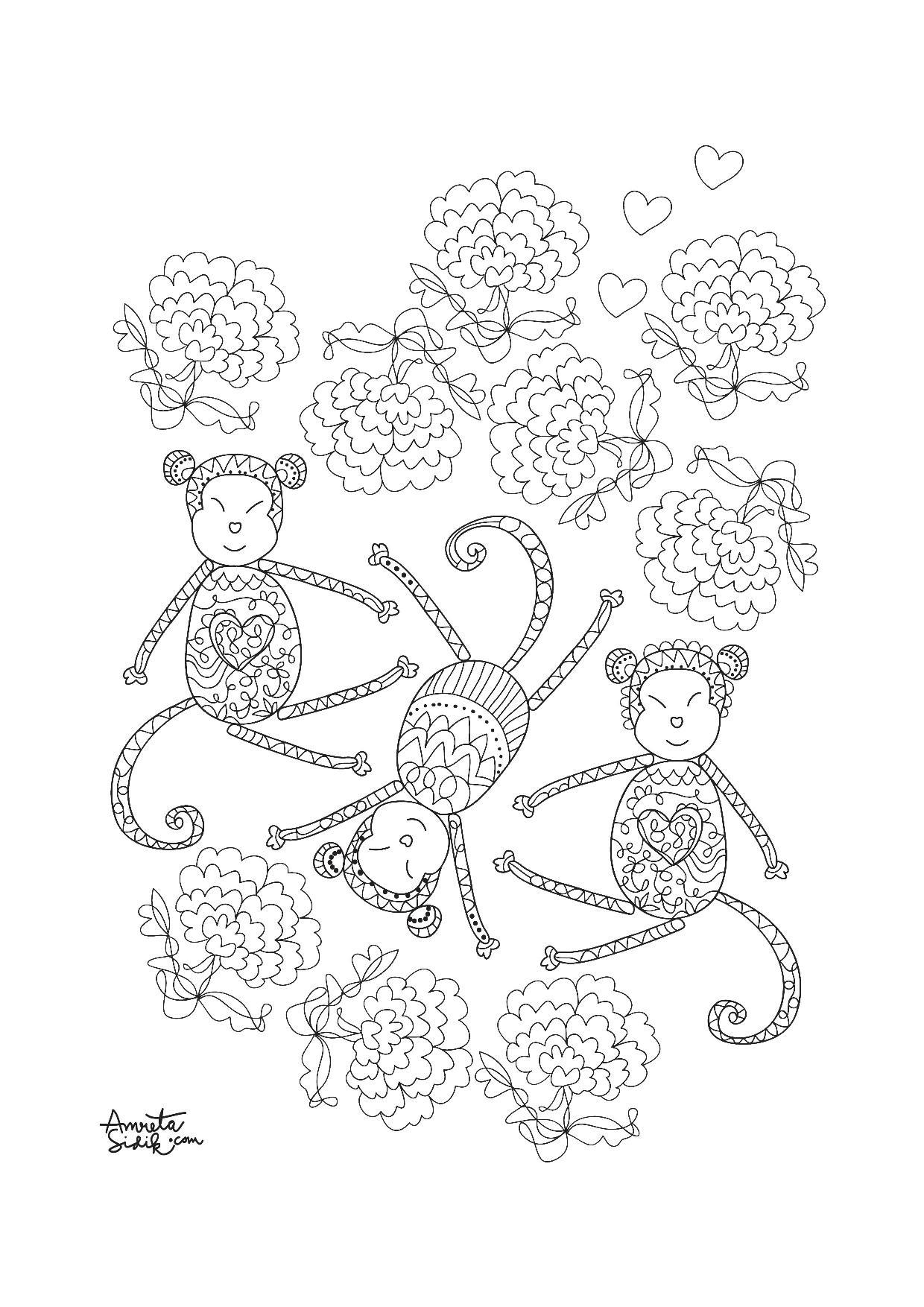 Disegni da colorare per adulti : Anti-stress / Zen - 127