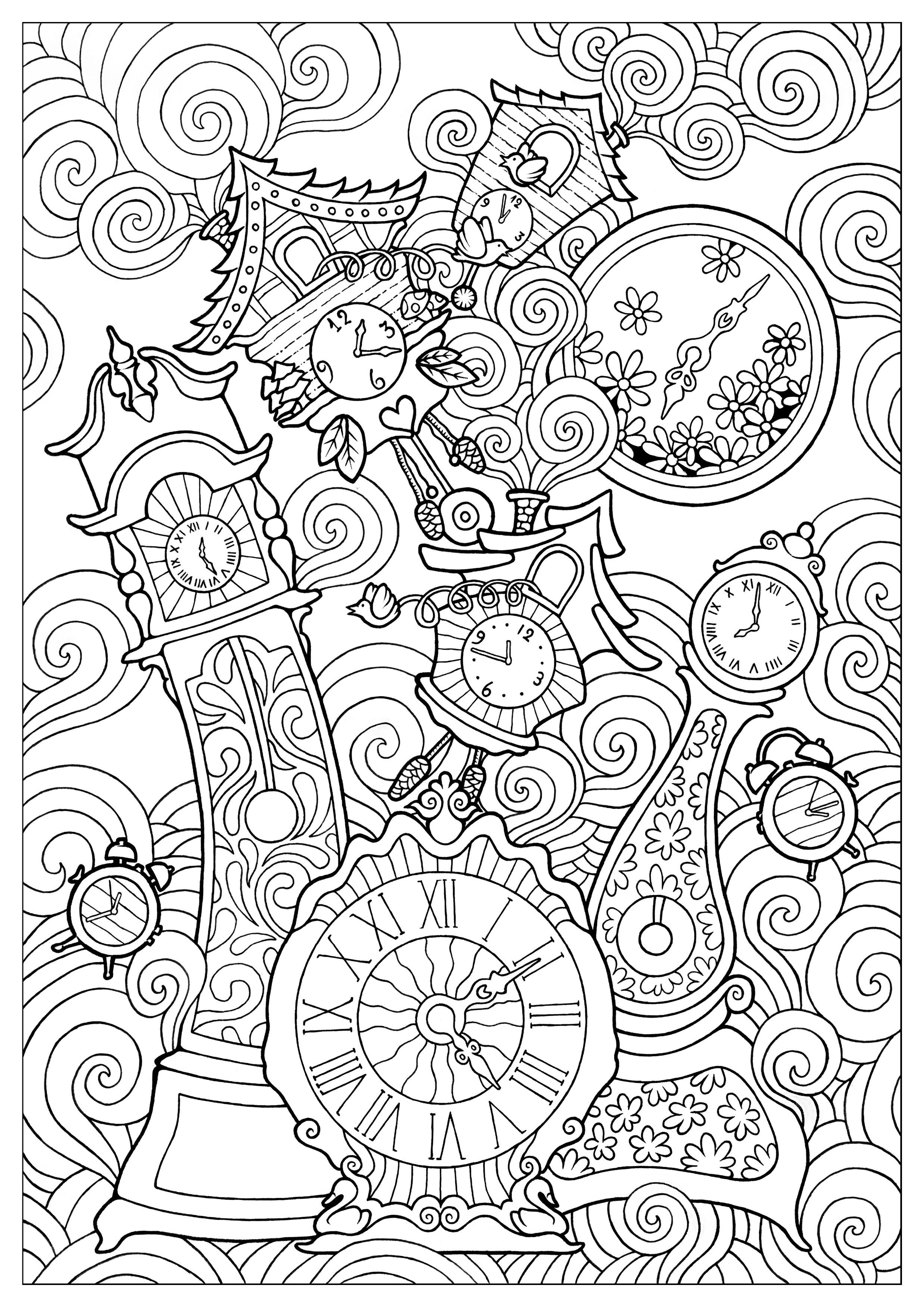 Disegni da colorare per adulti : Anti-stress / Zen - 194