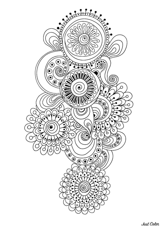 Disegni da colorare per adulti : Anti-stress / Zen - 85