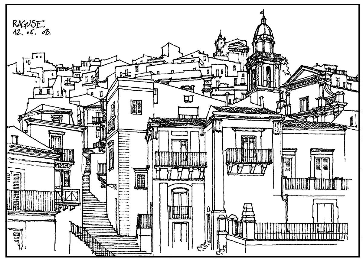 Disegni da colorare per adulti : Architettura & casa - 13