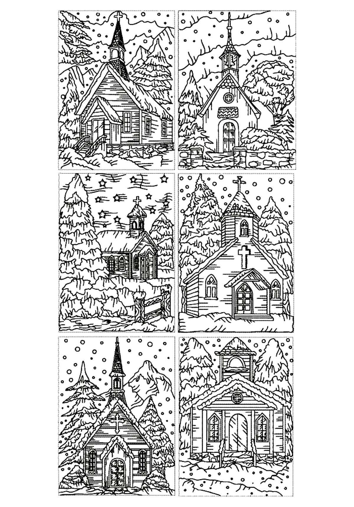 Disegni da colorare per adulti : Architettura & casa - 15