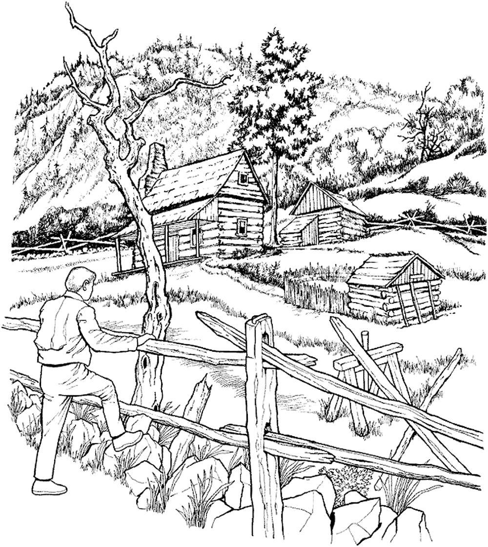 Disegni da colorare per adulti : Architettura & casa - 10