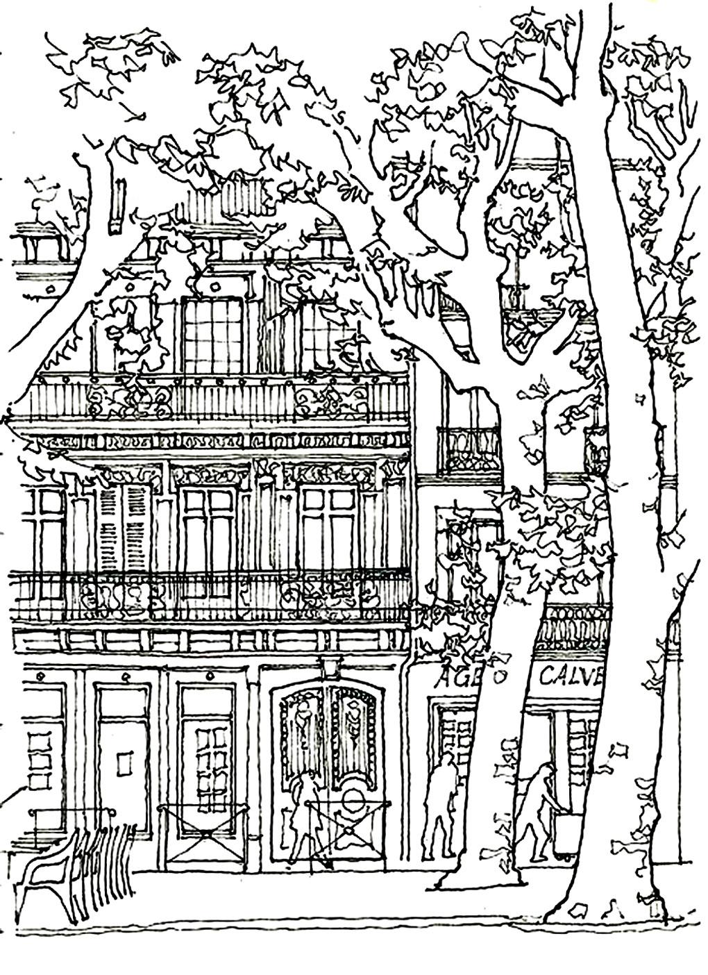 Disegni da colorare per adulti : Architettura & casa - 2
