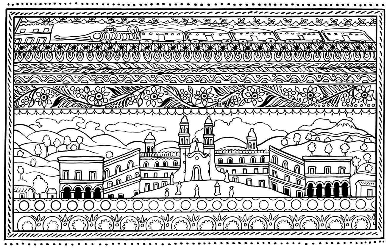 Disegni da colorare per adulti : Architettura & casa - 6
