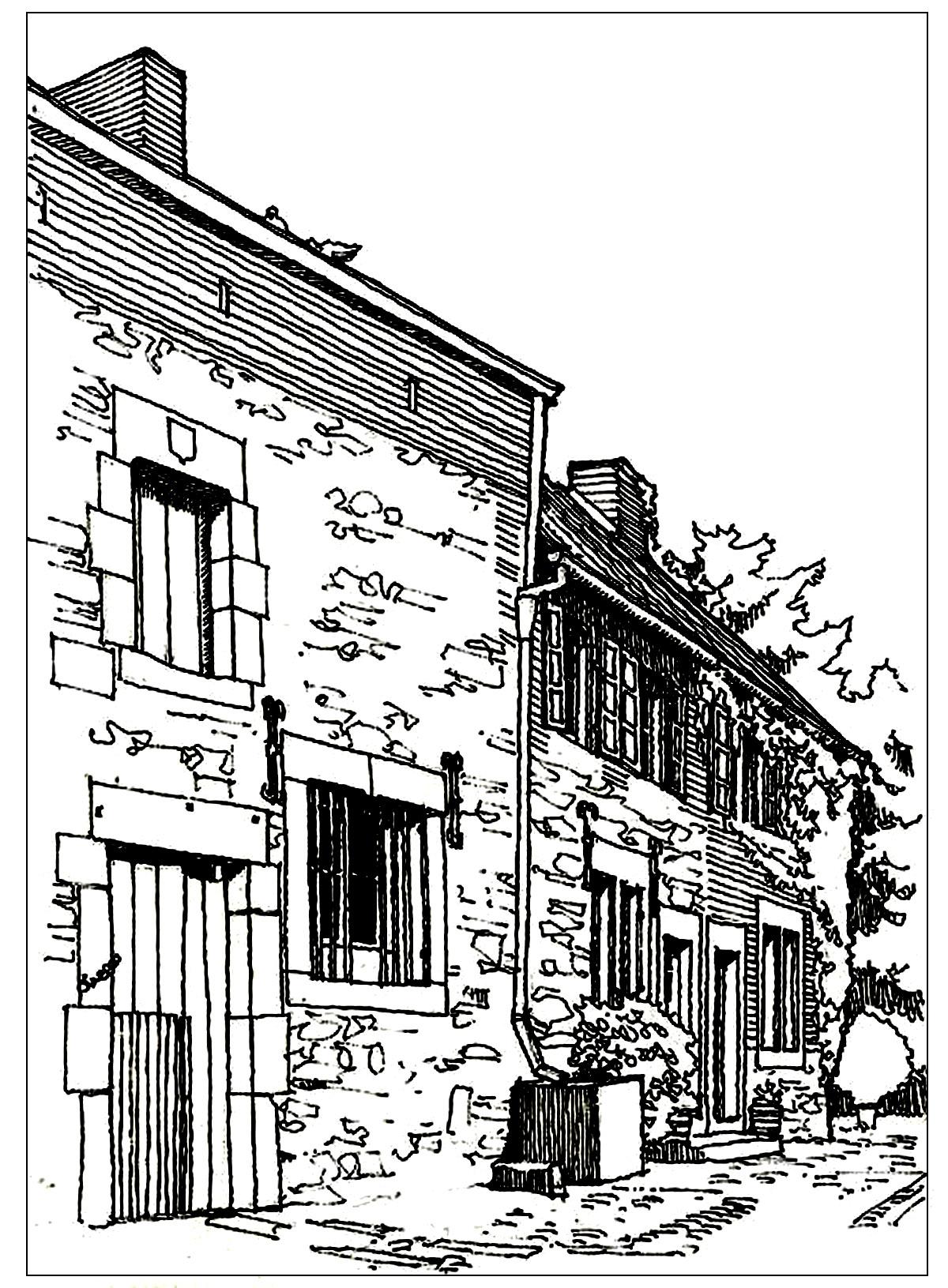 Disegni da colorare per adulti : Architettura & casa - 30