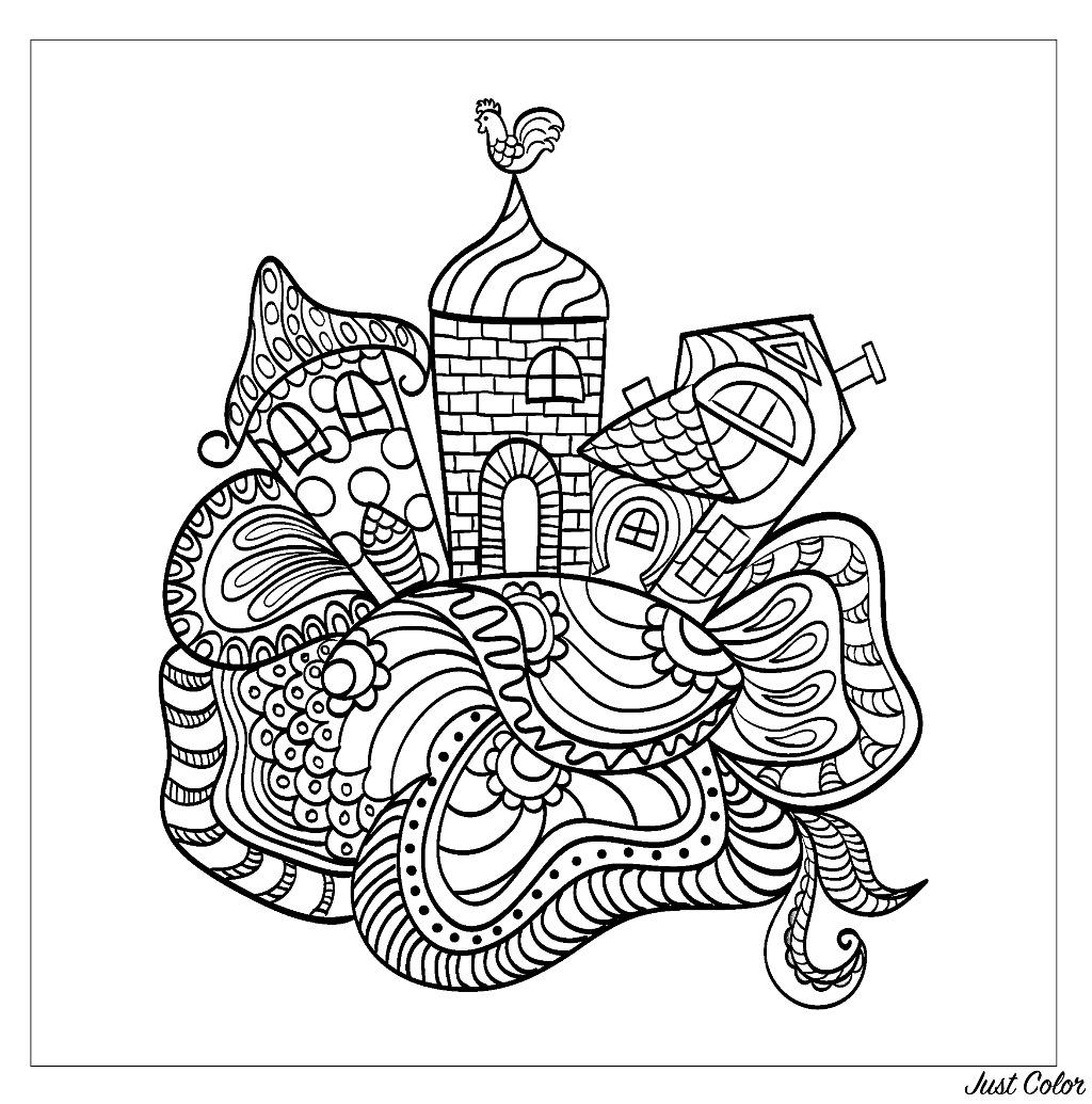 Disegni da colorare per adulti : Architettura & casa - 38