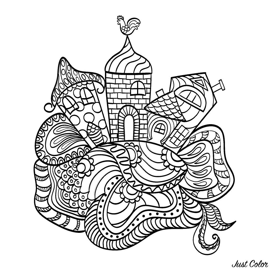 Disegni da colorare per adulti : Architettura & casa - 54