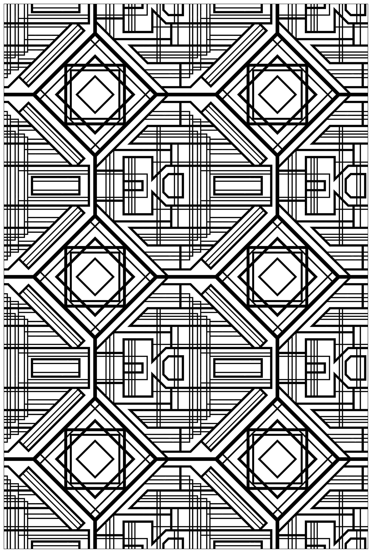 Disegni da colorare per adulti : Art deco - 2