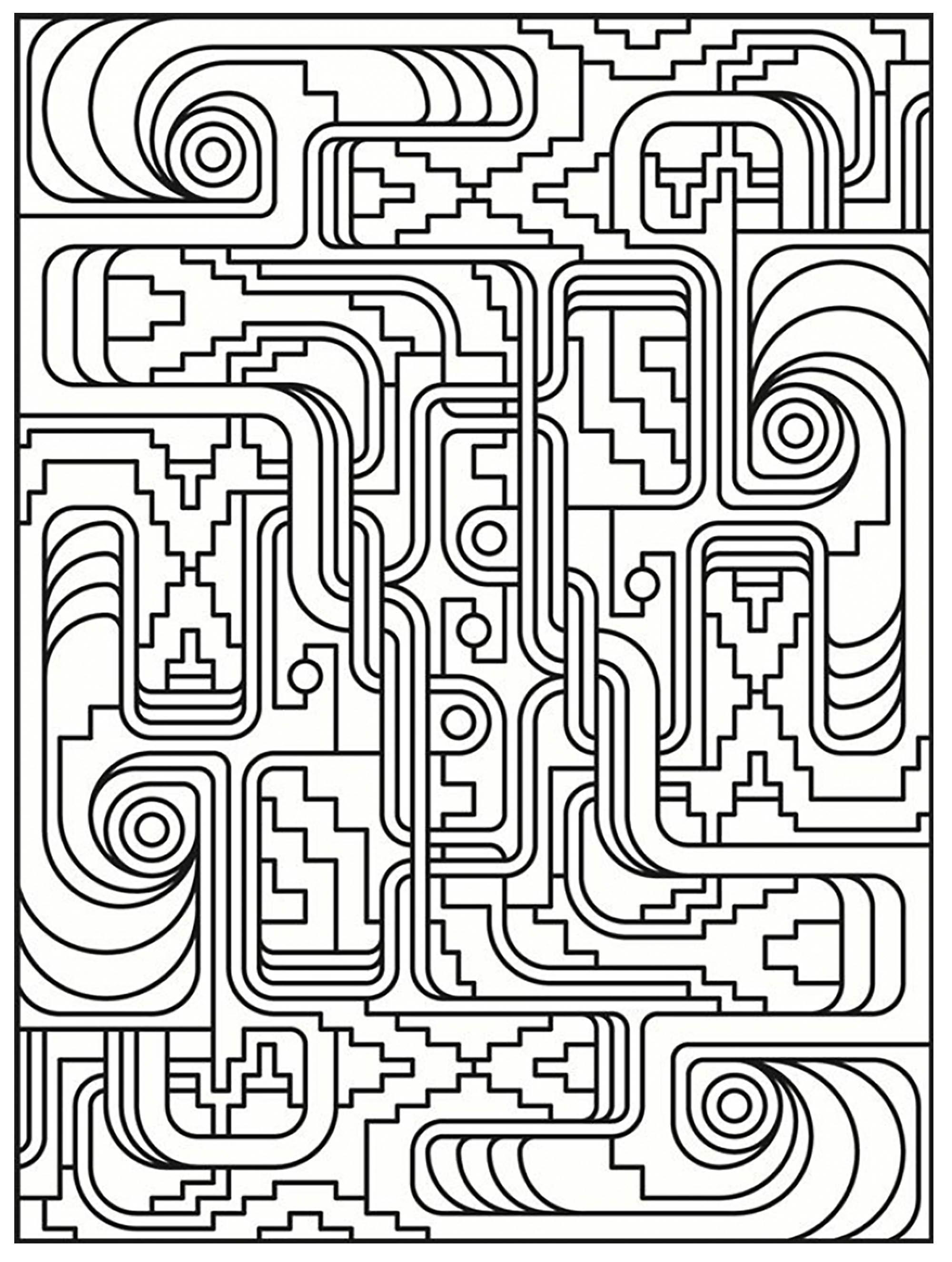 Disegni da colorare per adulti : Art deco - 1