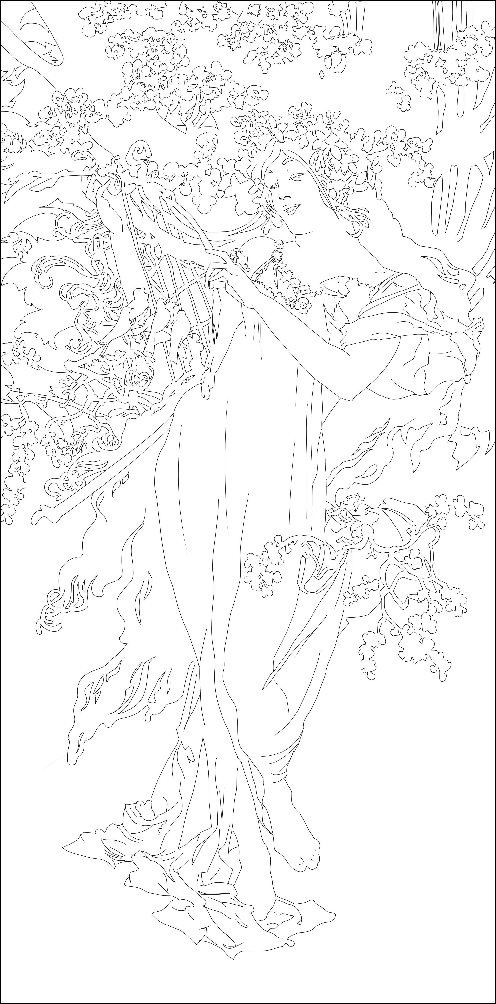 Disegni da colorare per adulti : Art nouveau - 26