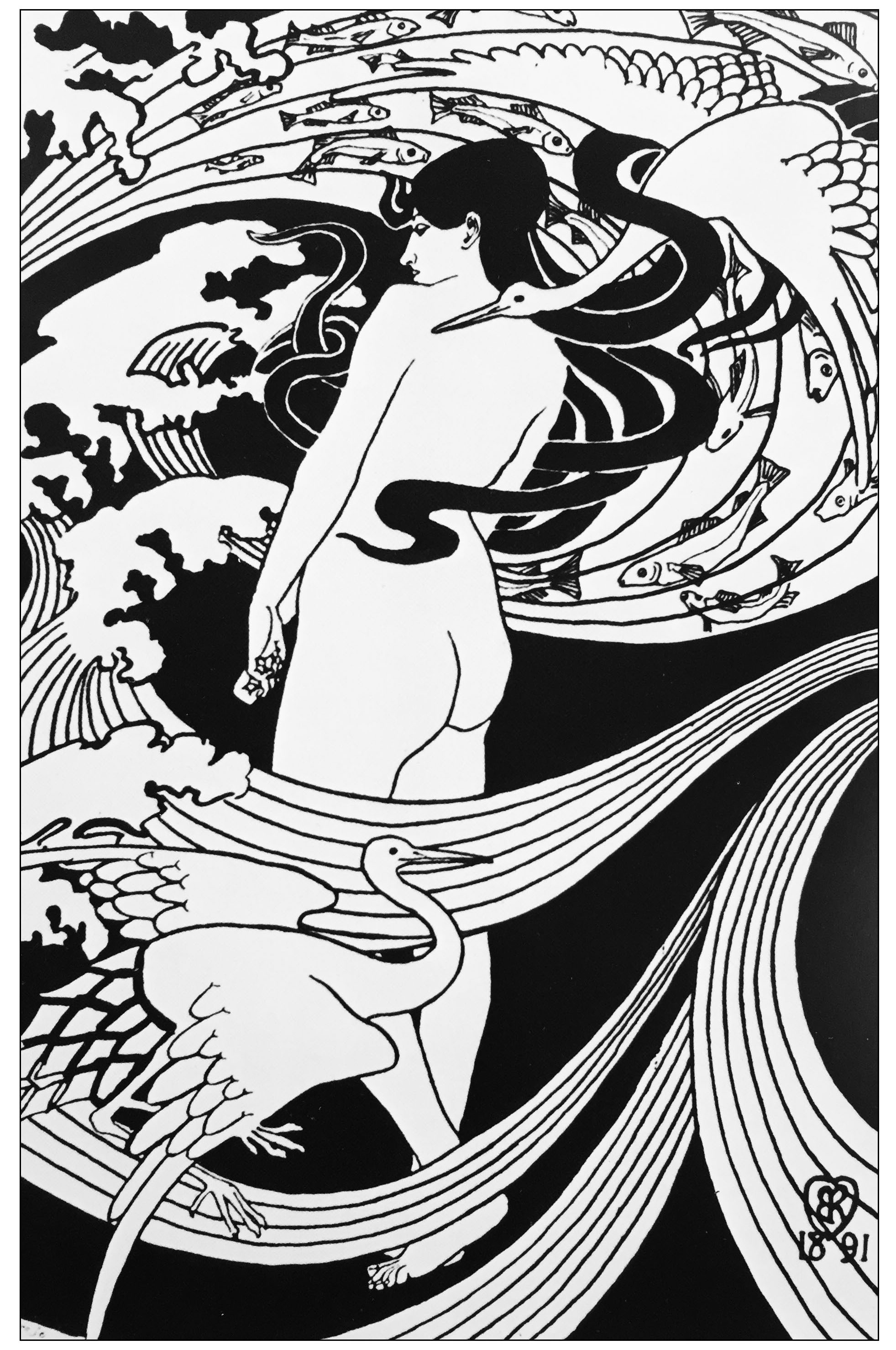 Disegni da colorare per adulti : Art nouveau - 24