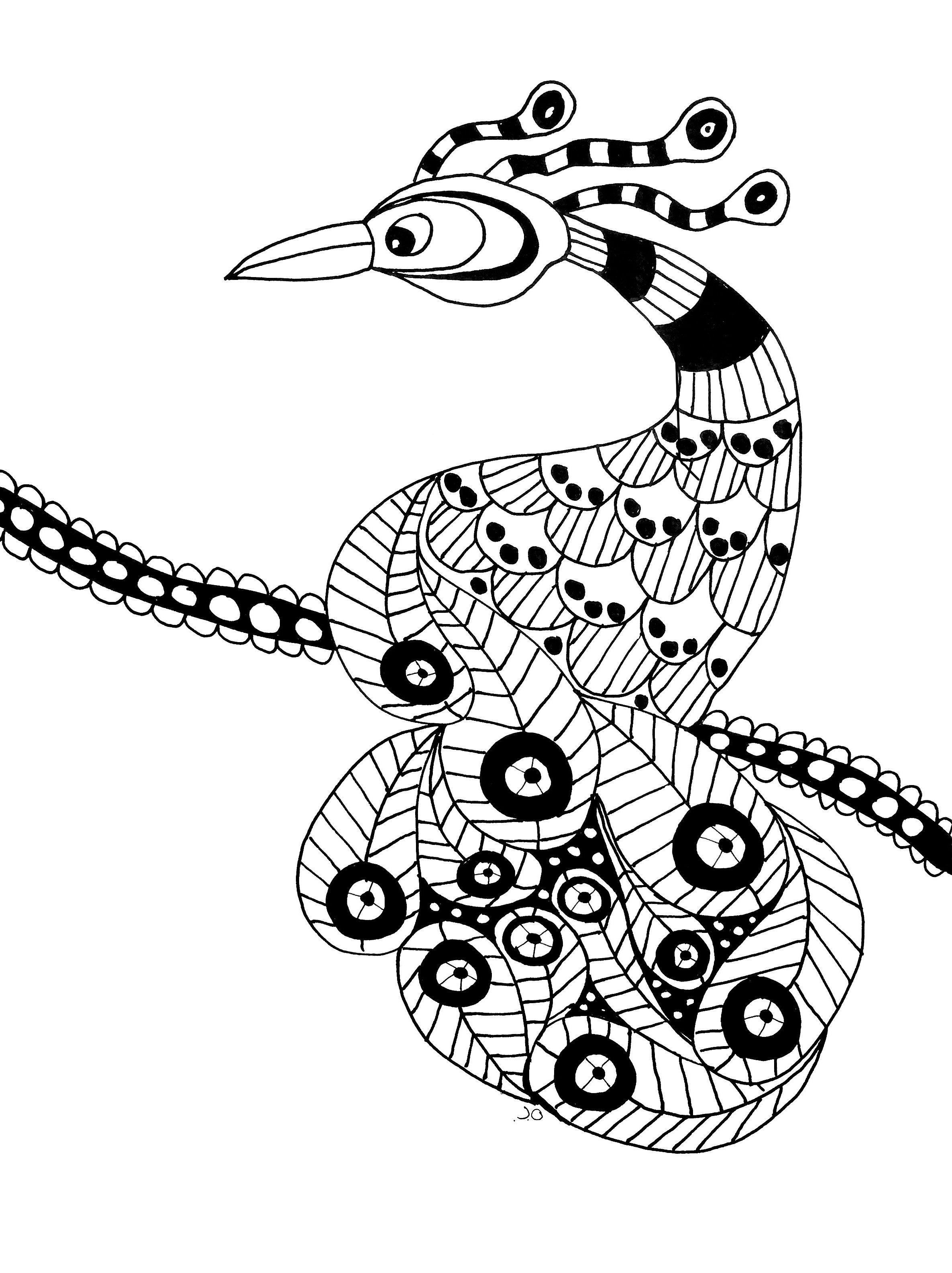 Disegni da colorare per adulti : Uccelli - 6