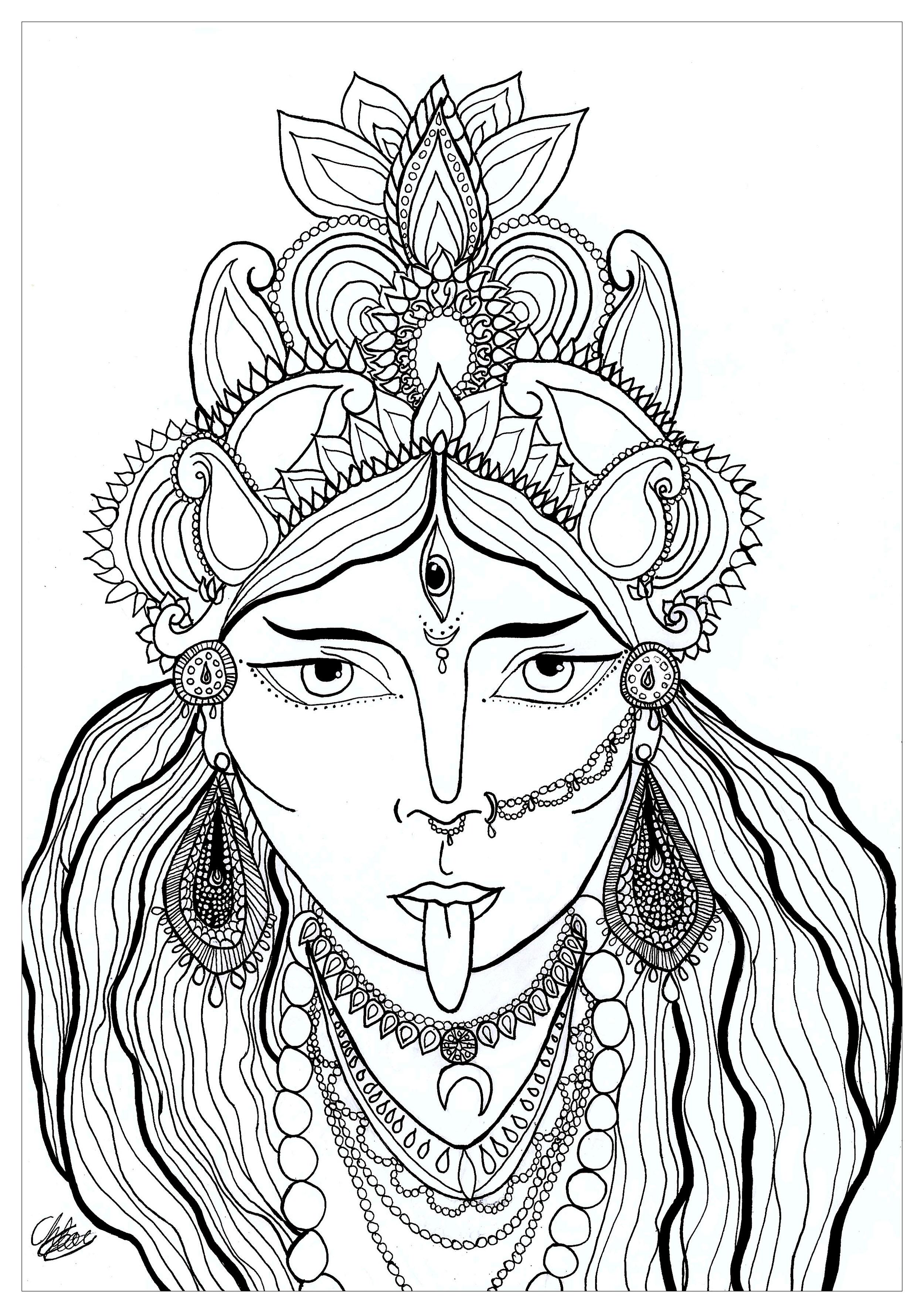 Disegni da colorare per adulti : India e bollywood - 39