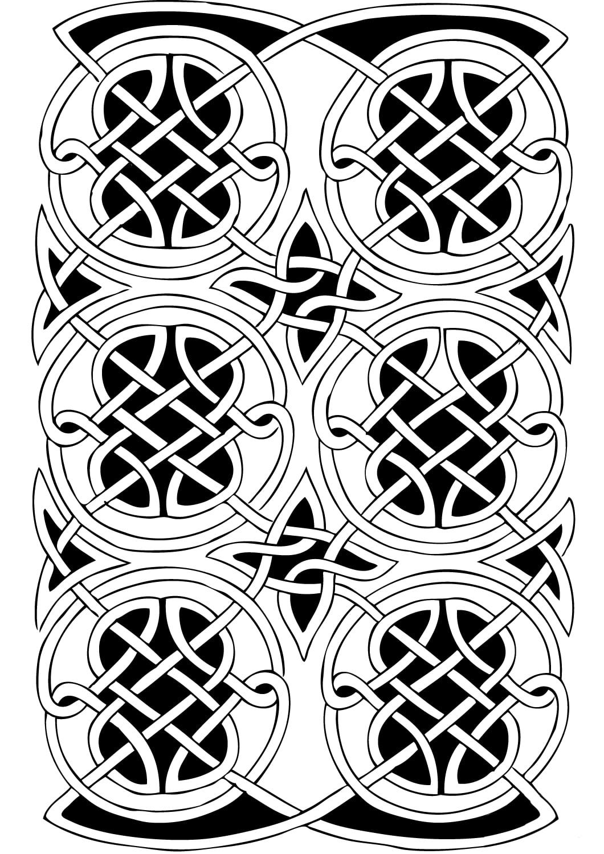 Disegni da Colorare per Adulti : Arte Celtica - 60