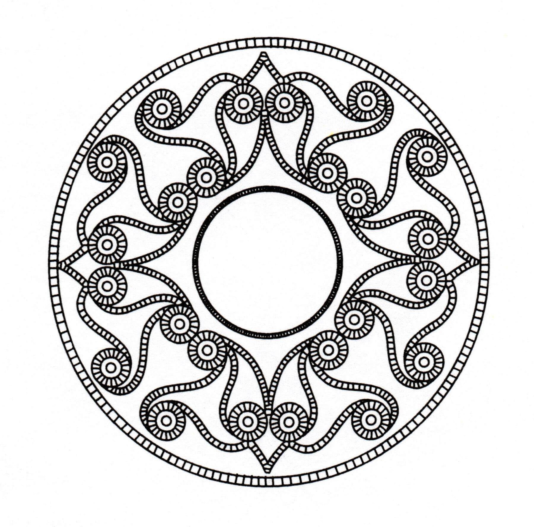 Disegni da Colorare per Adulti : Arte Celtica - 54