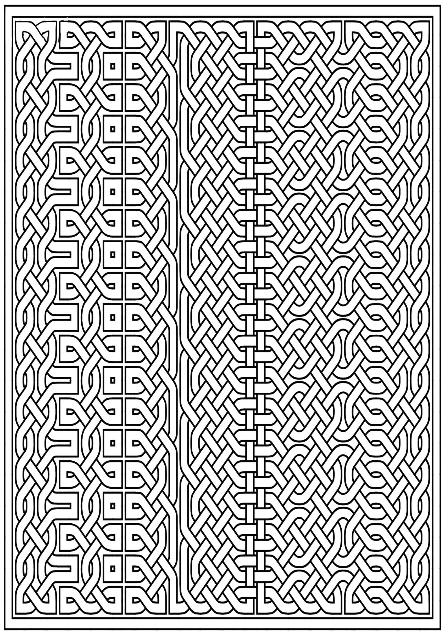 Disegni da Colorare per Adulti : Arte Celtica - 49