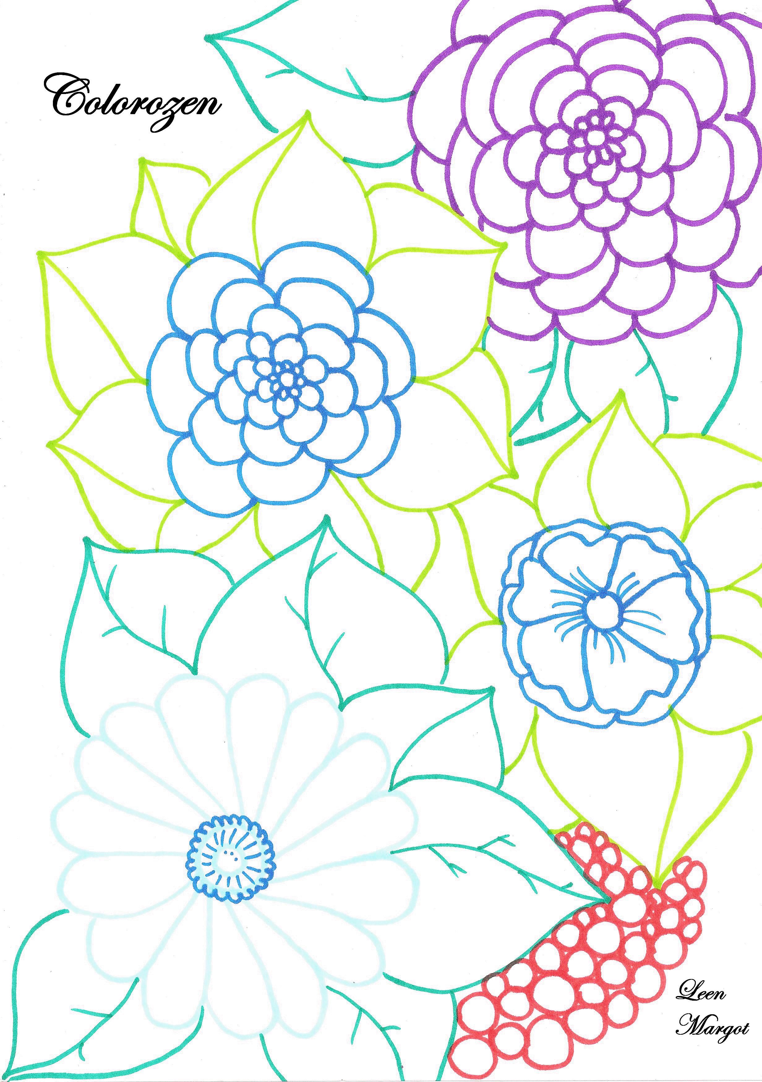 Disegni da colorare per adulti : Colorzen - 3