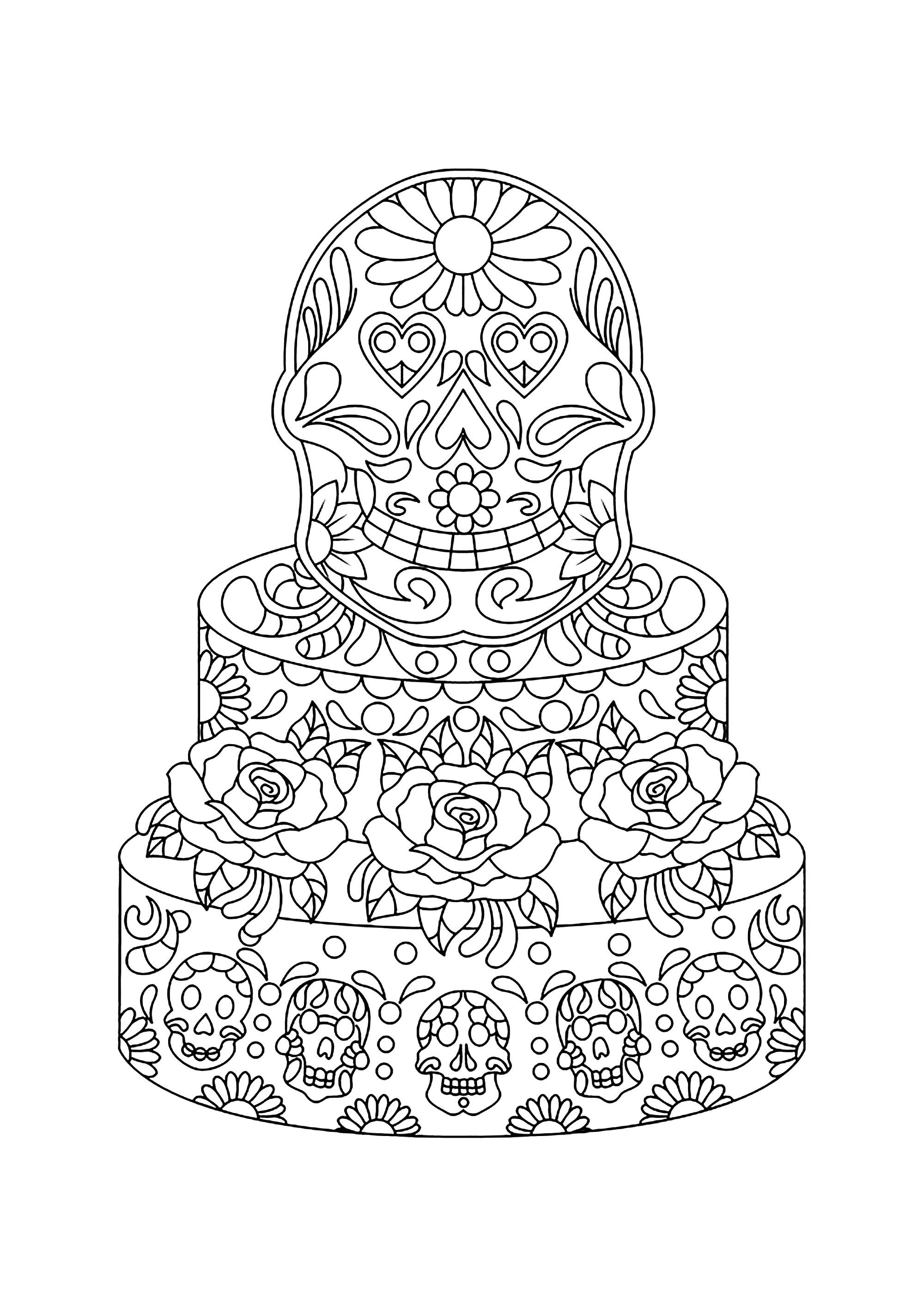 Disegni da Colorare per Adulti : Cup Cakes - 4