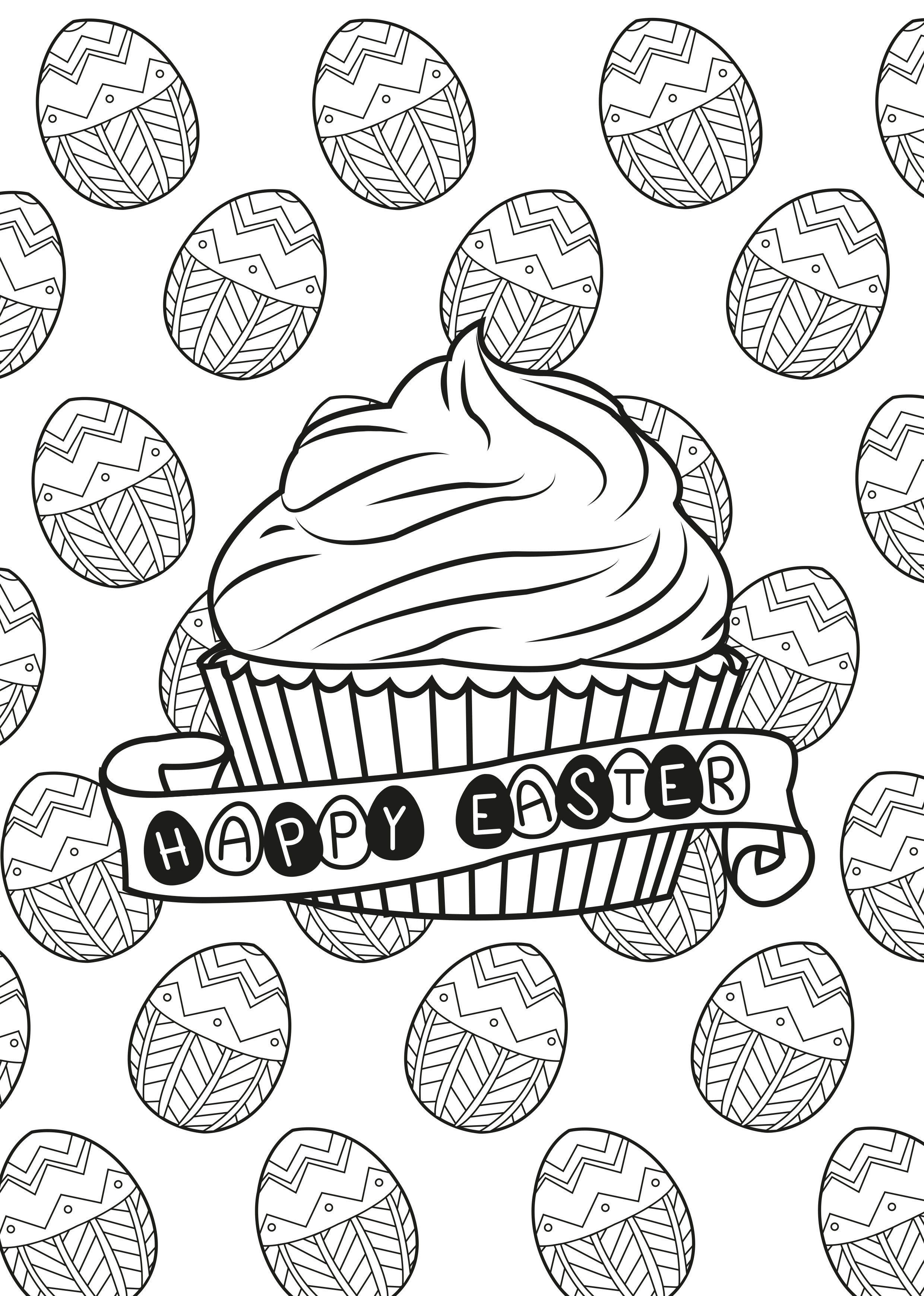 Disegni da colorare per adulti : Cup Cakes - 27