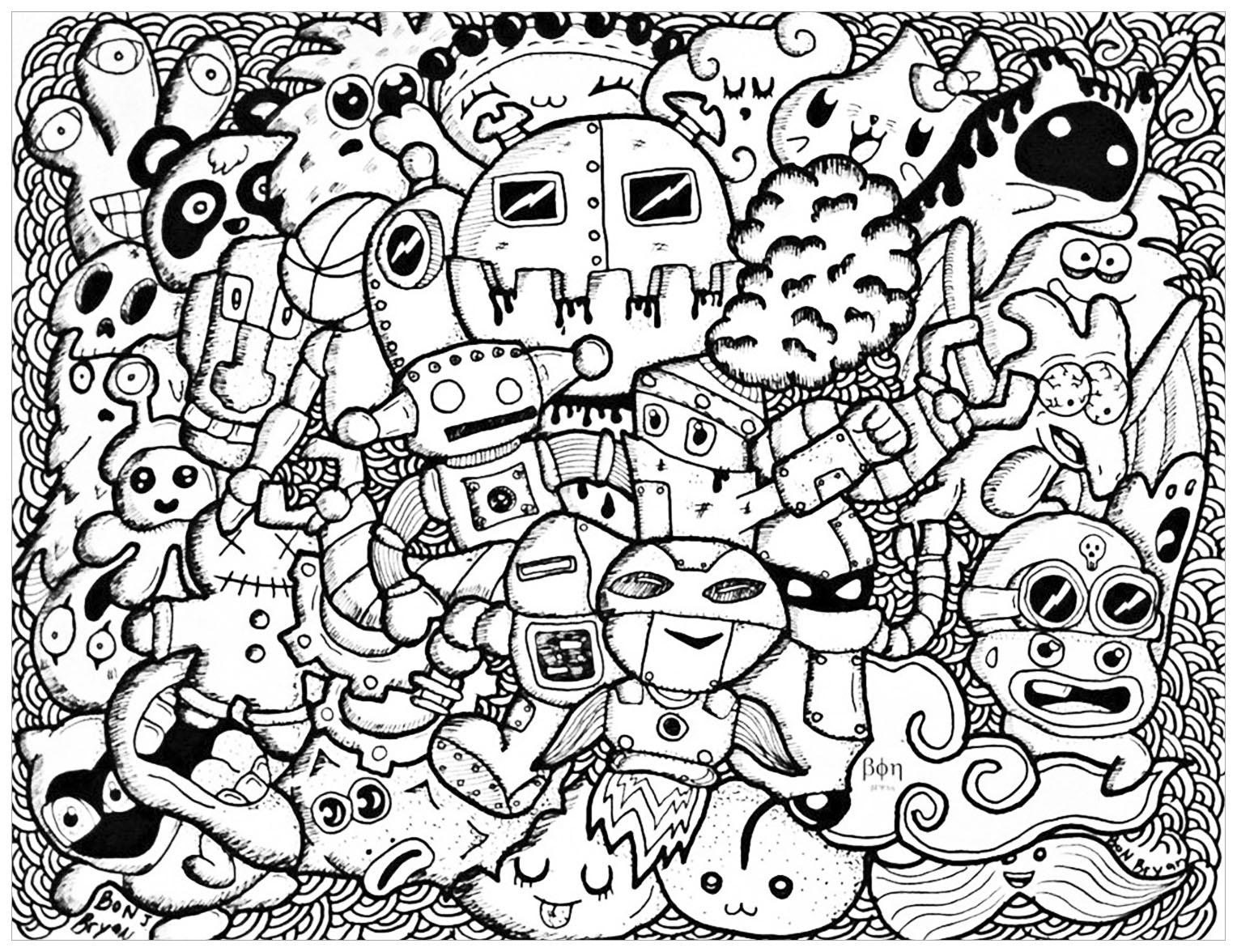 Line Design Art With Mr E : Doodle art doodling