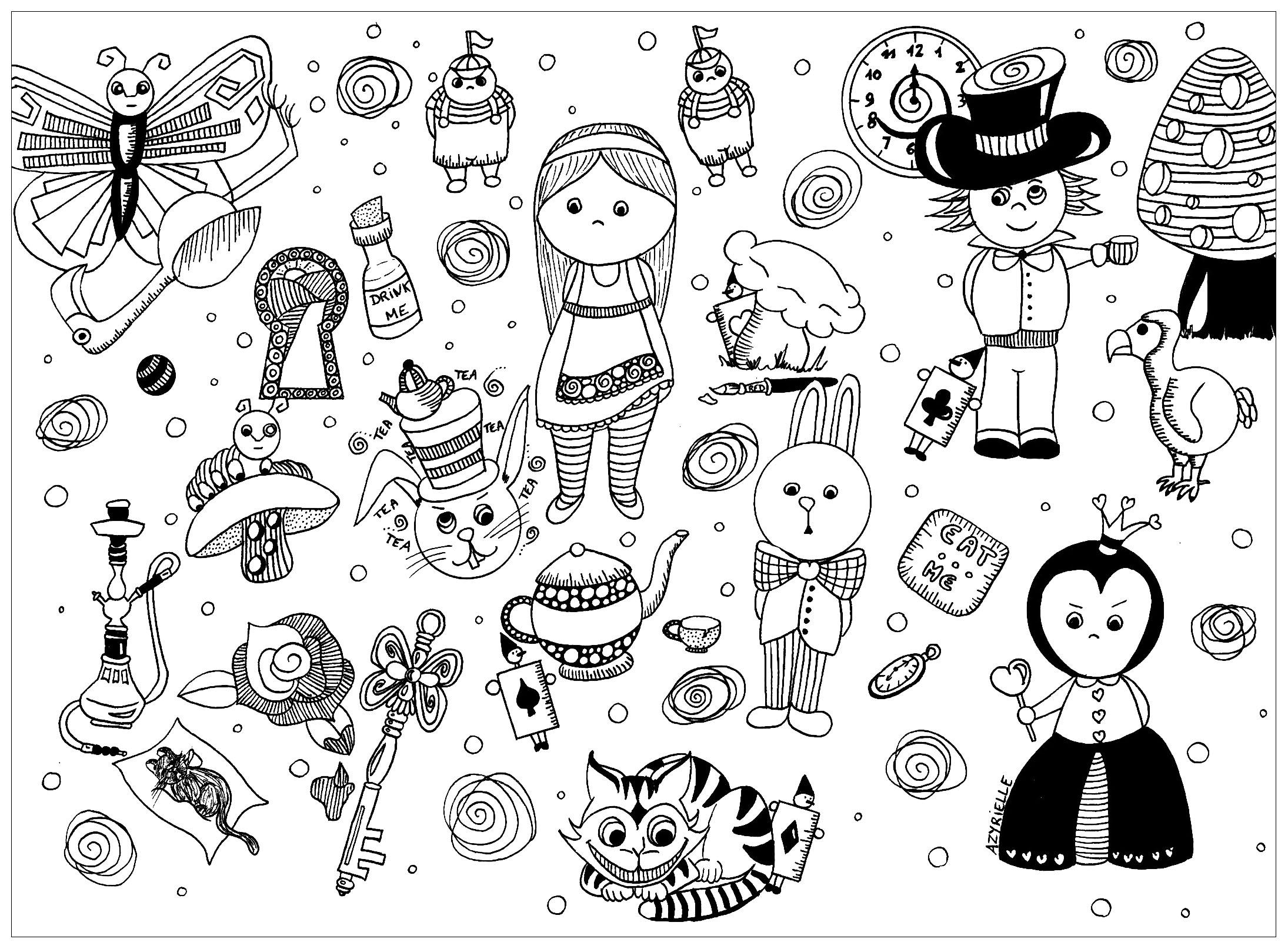 Disegni da colorare per adulti : Doodle art / Doodling - 50