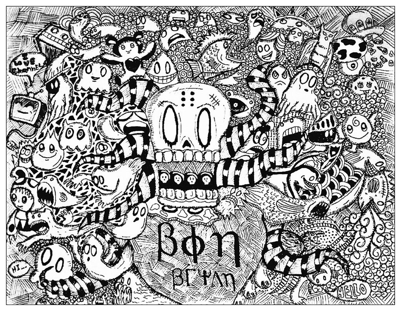 Disegni da colorare per adulti : Doodle art / Doodling - 29