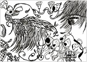 Doodle art doodling 5734
