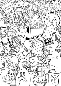 Doodle art doodling 80307