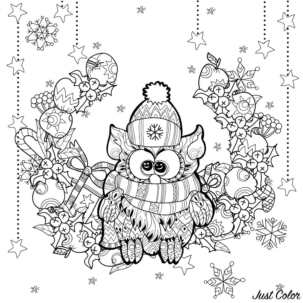 Disegni da colorare per adulti : Natale - 10
