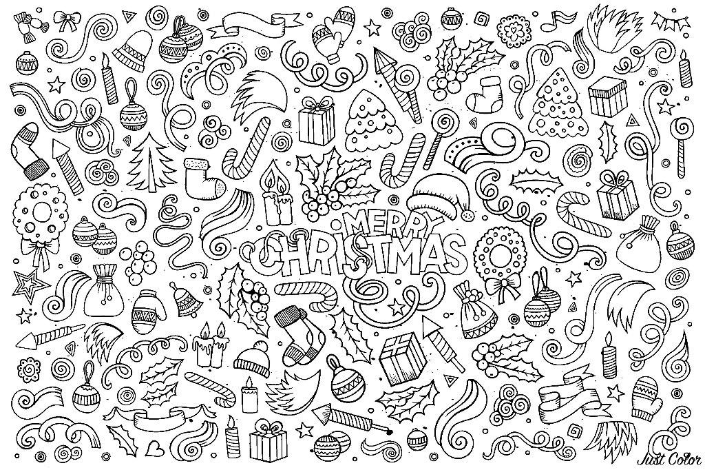 Disegni da Colorare per Adulti : Natale - 18