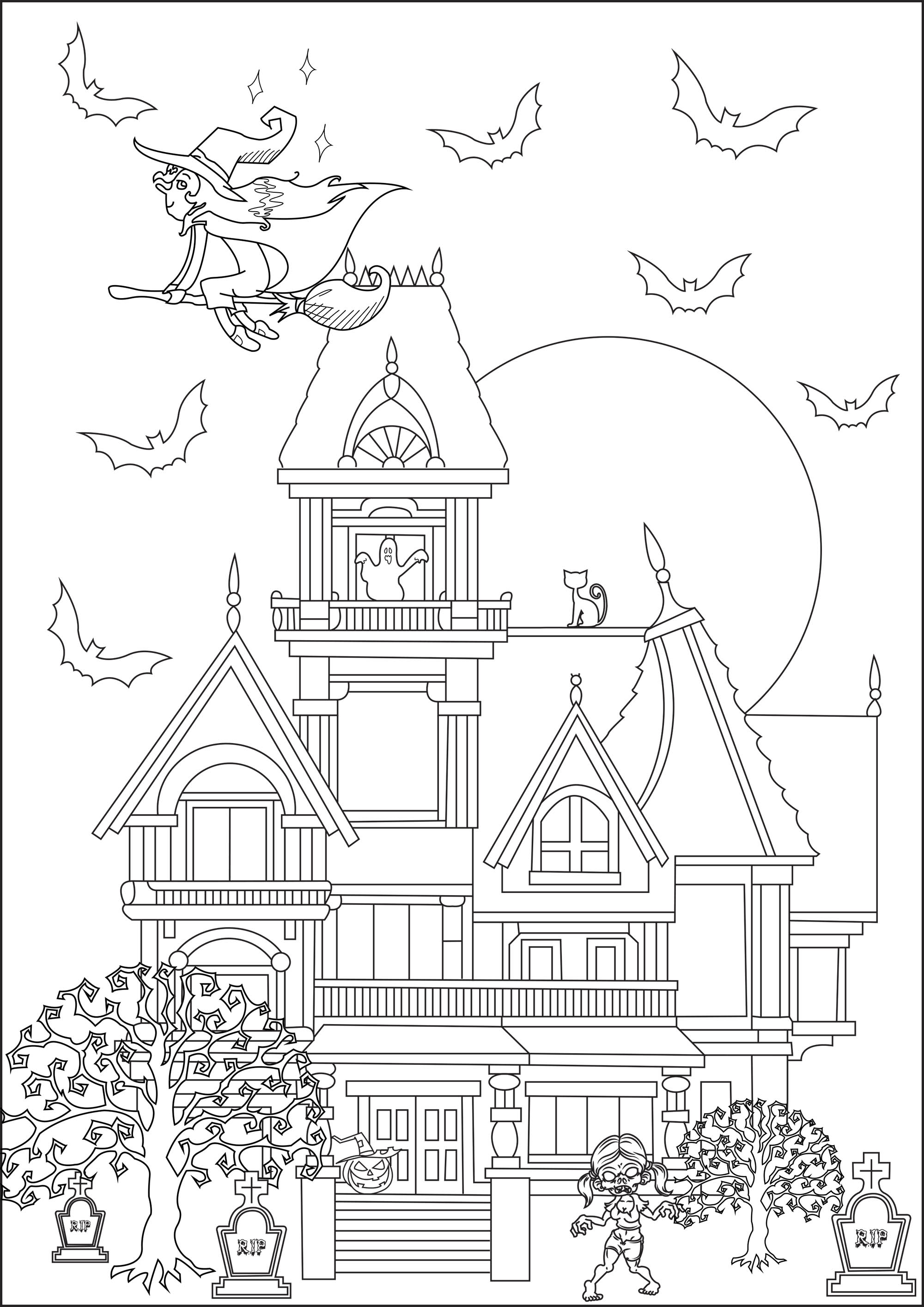 Disegni da Colorare per Adulti : Halloween - 7