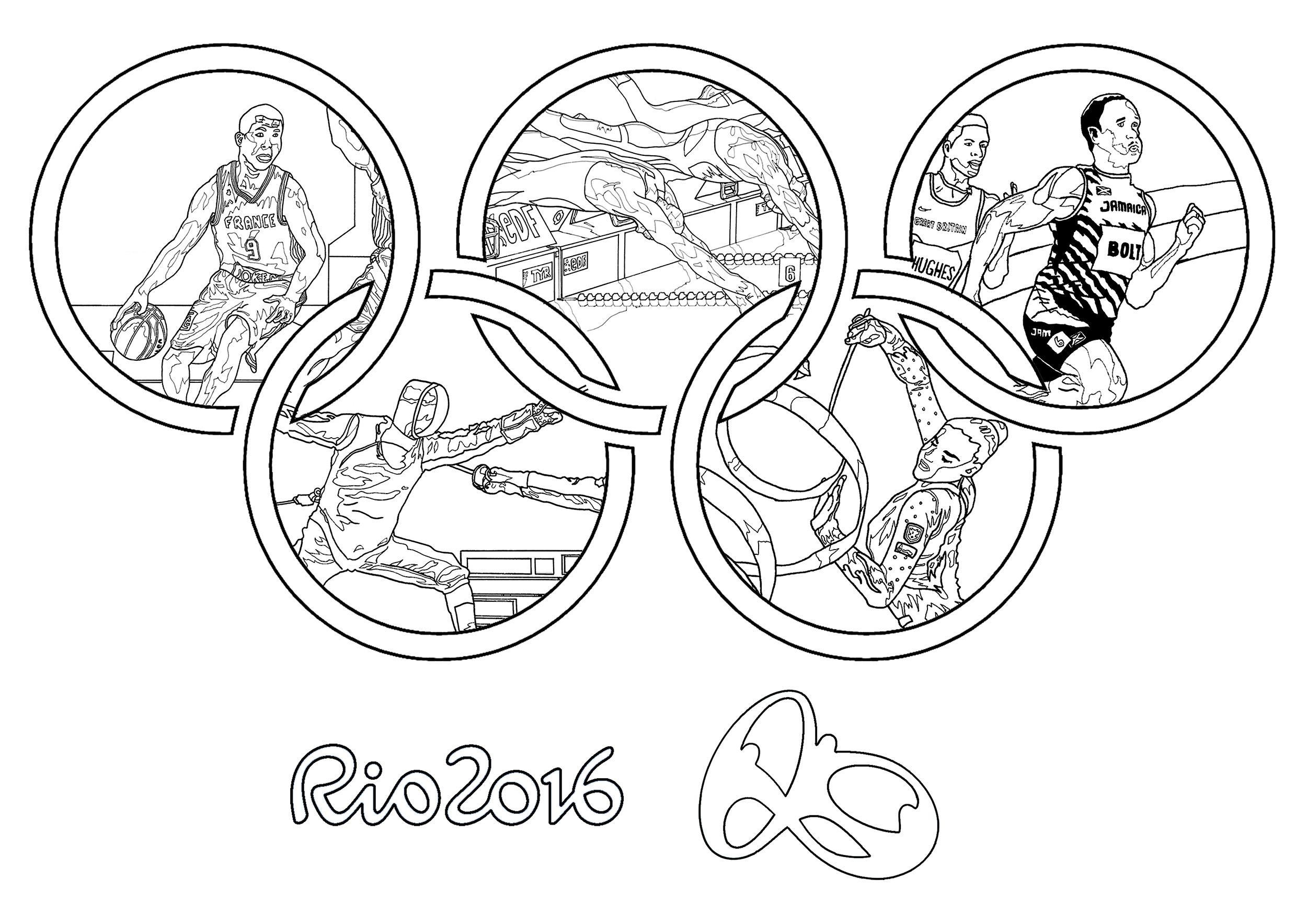 Disegni da colorare per adulti : Sport / Olimpiadi - 7