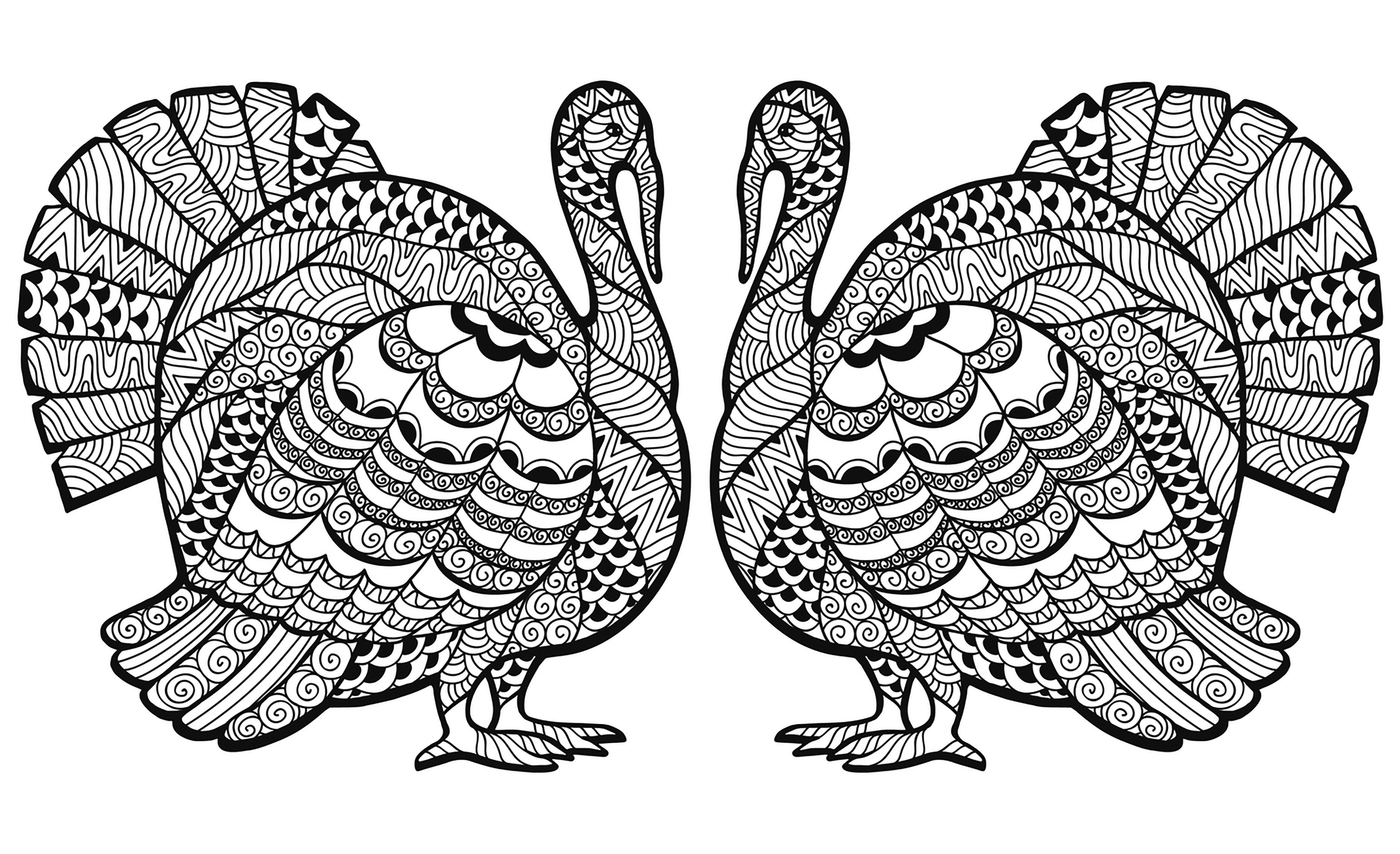 Disegni da colorare per adulti : Thanksgiving - 14