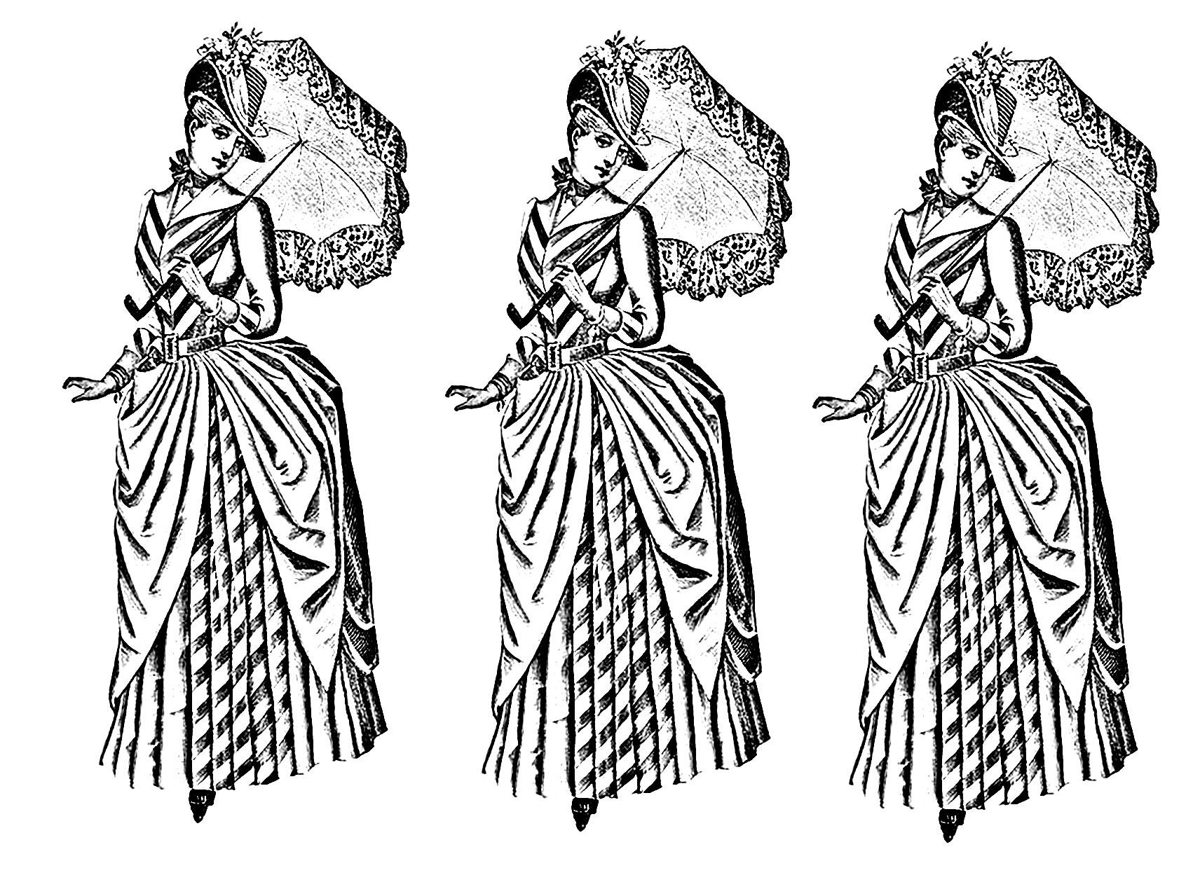 Moda E Abbigliamento Disegni Da Colorare Per Adulti
