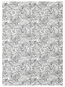 Pesci disegni da colorare per adulti pagina 2 - Pagine da colorare pesci per adulti ...