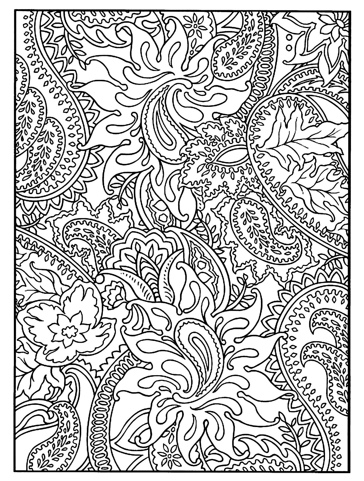 Disegni da colorare per adulti : Fiori e vegetazione - 26