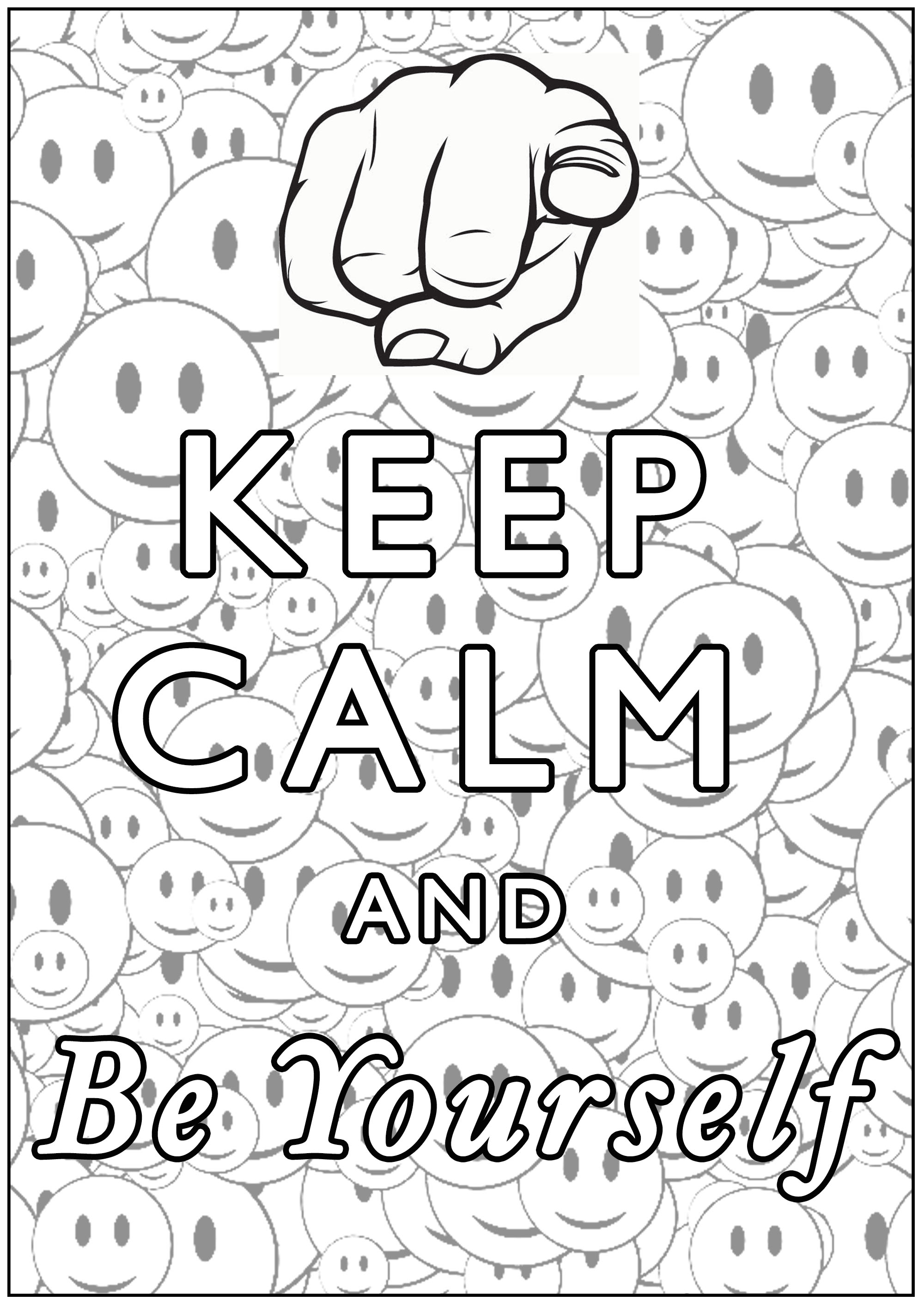 Disegni da Colorare per Adulti : Keep Calm - 7