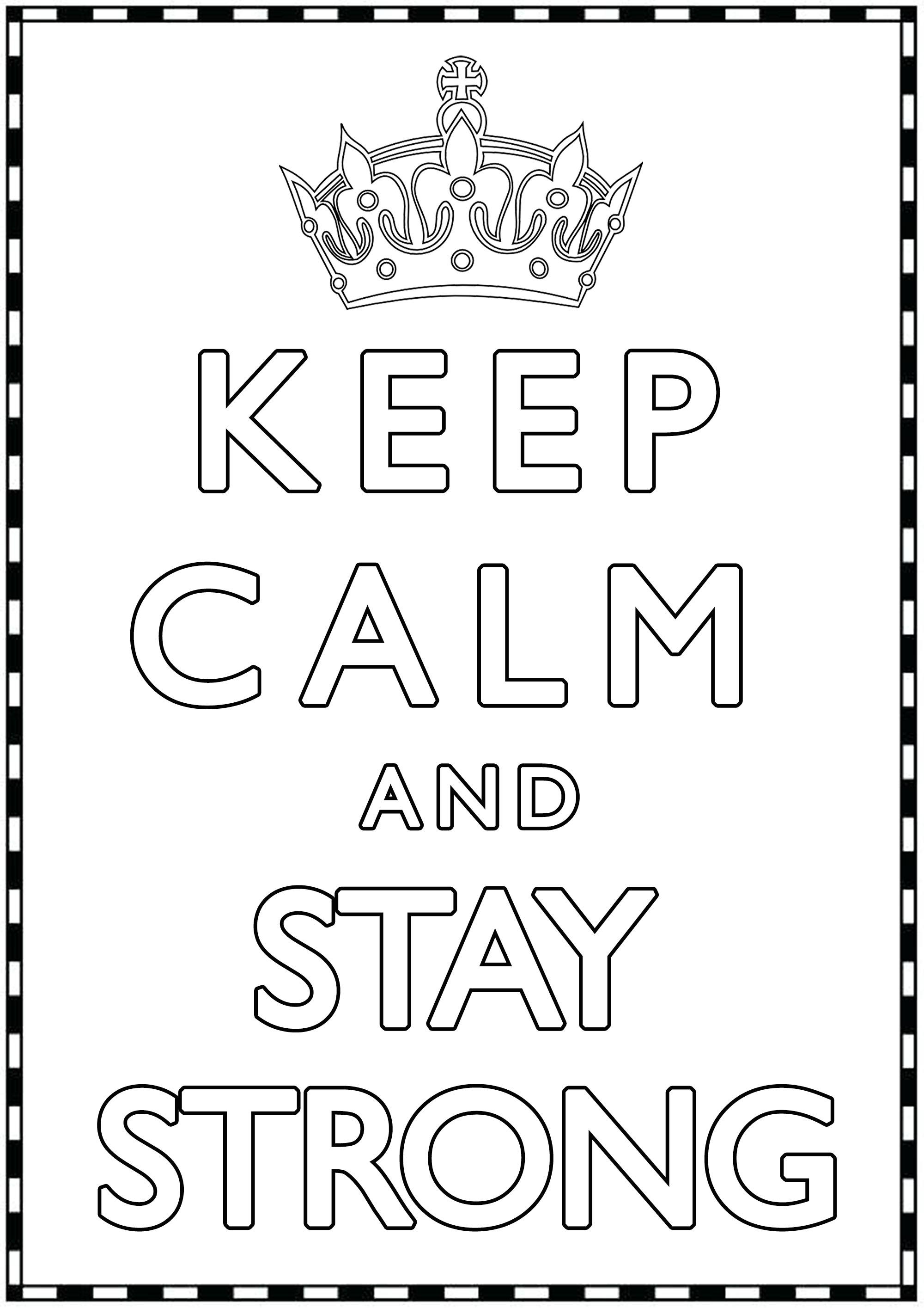Disegni da Colorare per Adulti : Keep Calm - 20