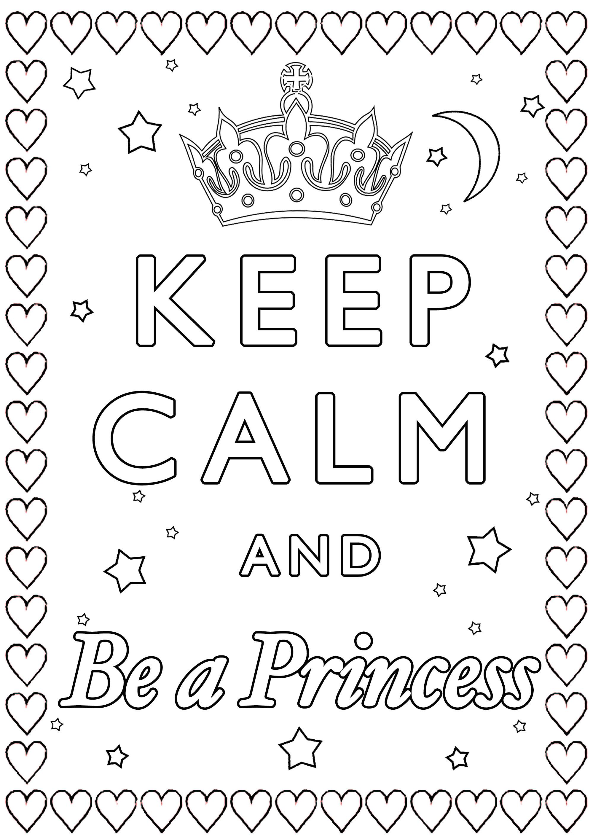 Disegni da Colorare per Adulti : Keep Calm - 3