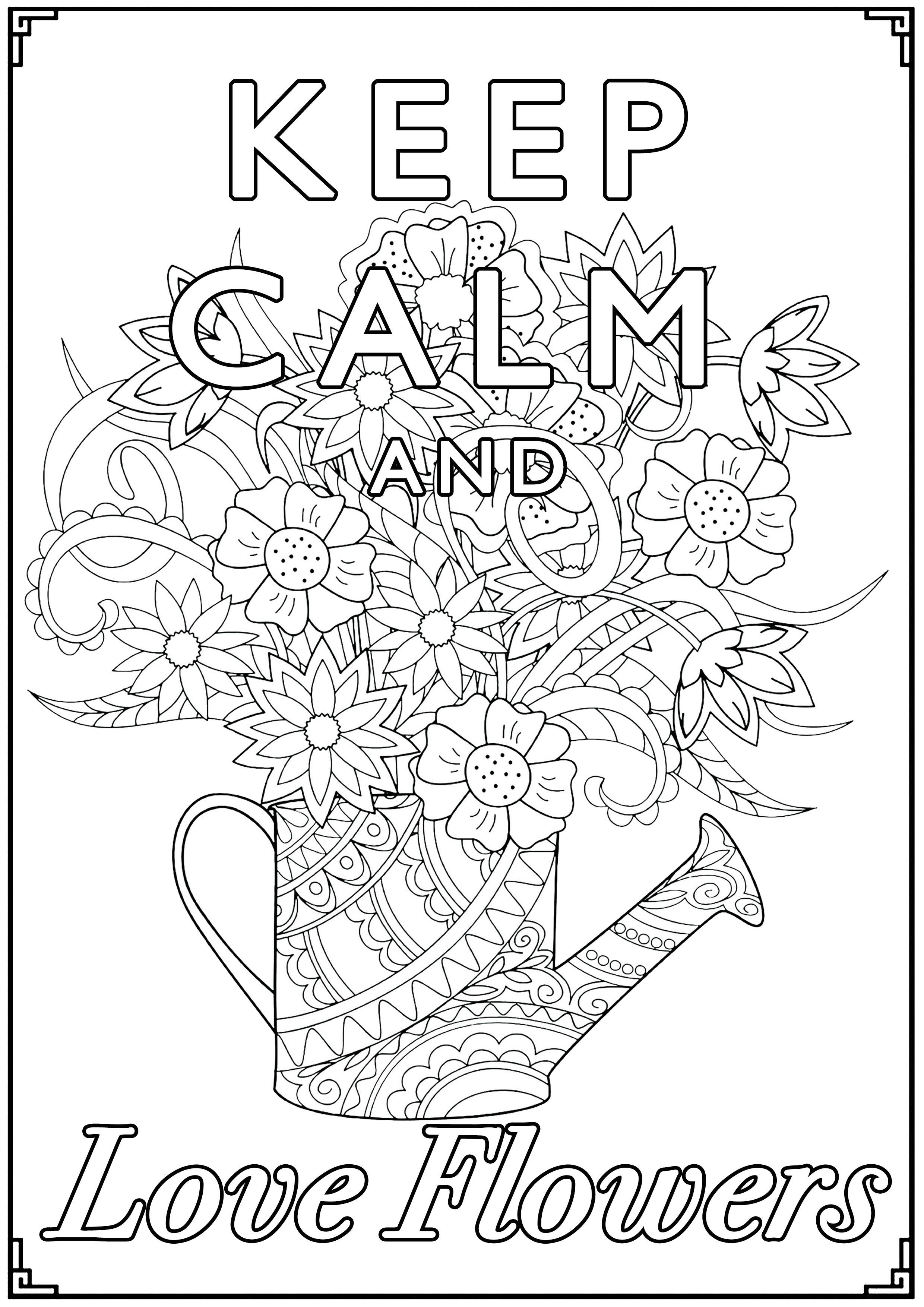 Disegni da Colorare per Adulti : Keep Calm - 2