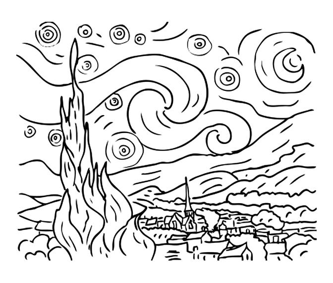 Van gogh disegni da colorare just color disegni da - Arte celtica colorare le pagine da colorare ...