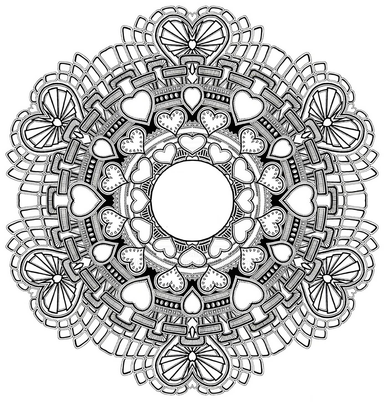 Disegni da colorare per adulti : Mandalas - 130
