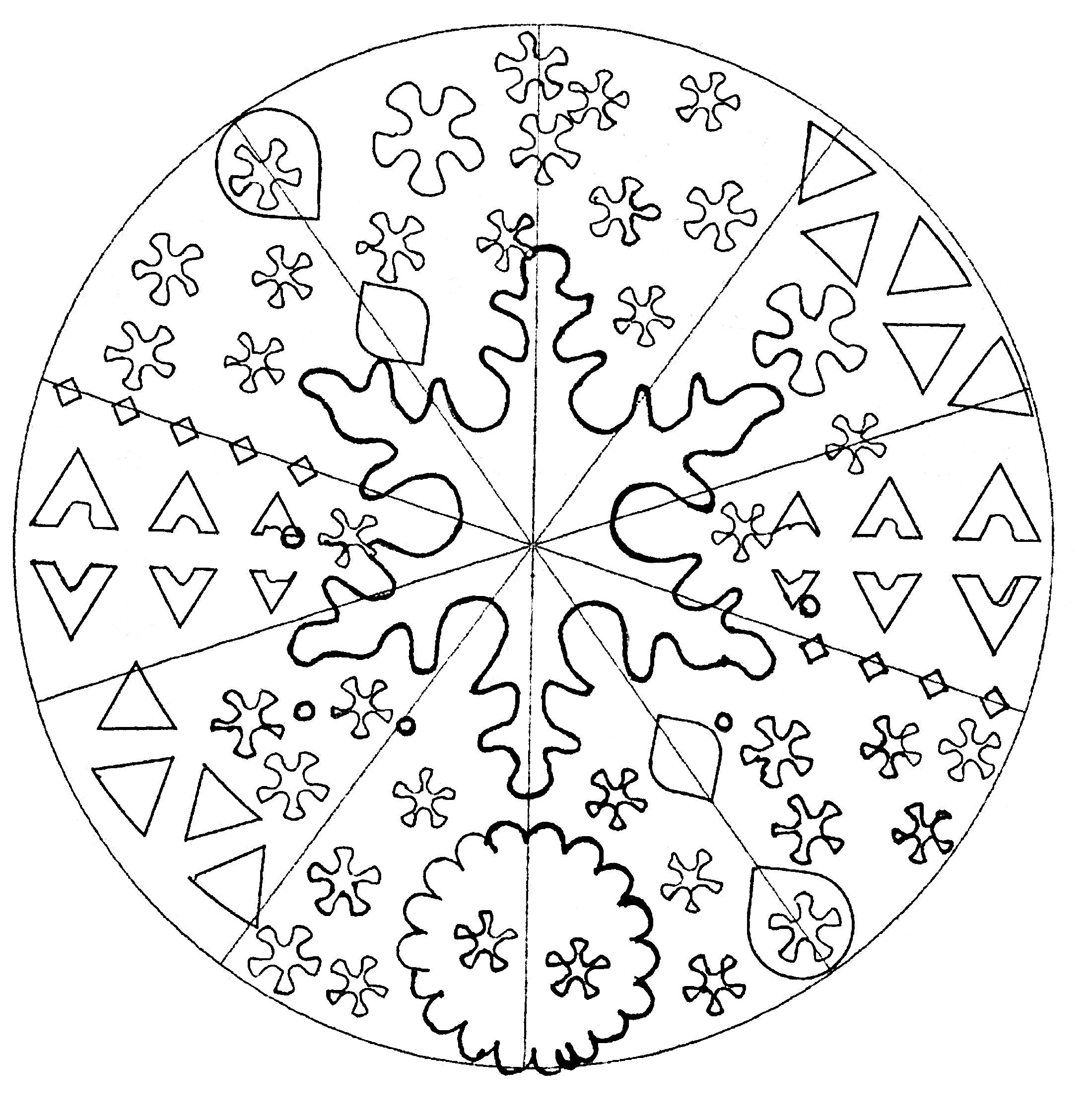 Disegni da colorare per adulti : Mandalas - 150