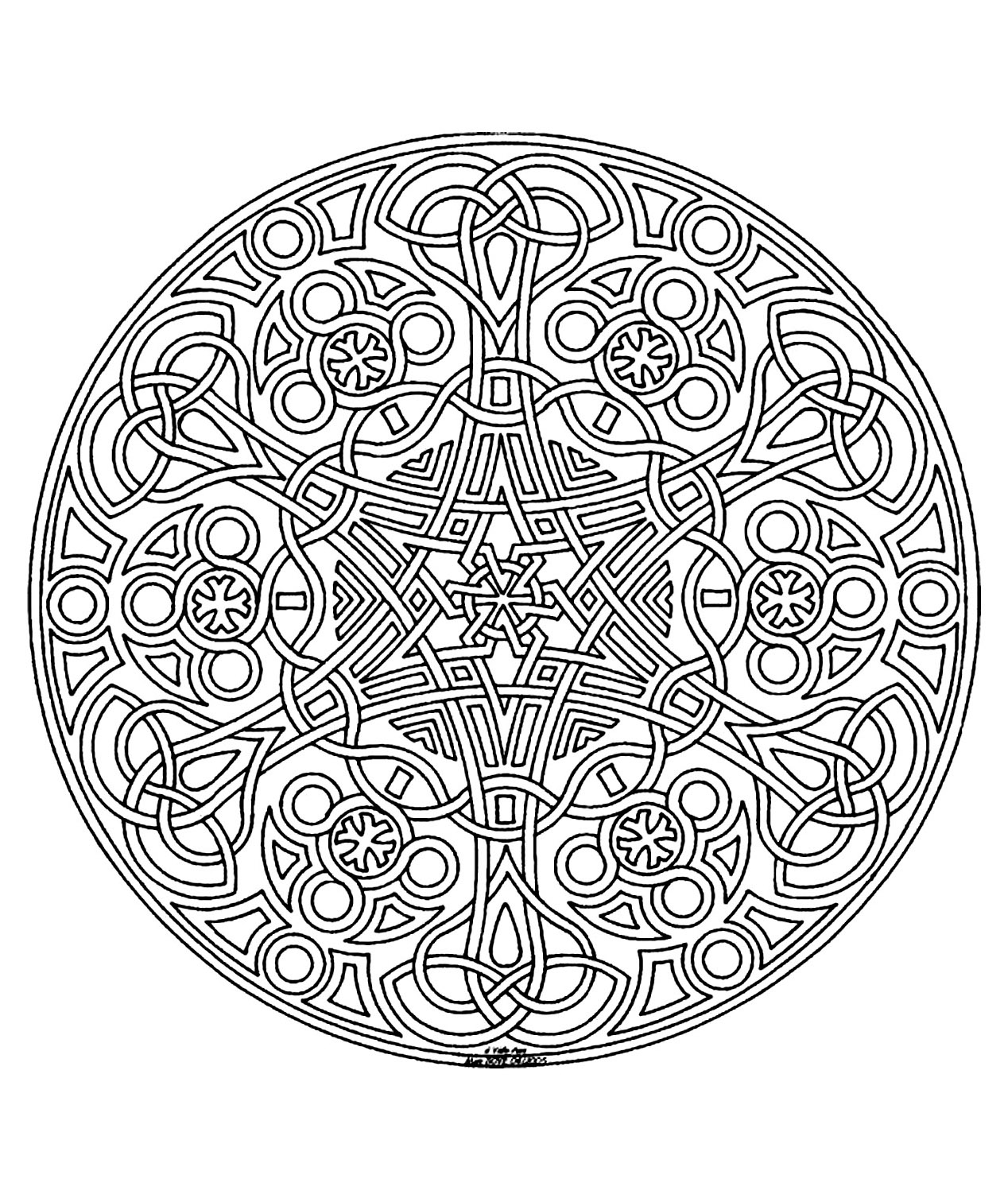 Disegni da colorare per adulti : Mandalas - 43