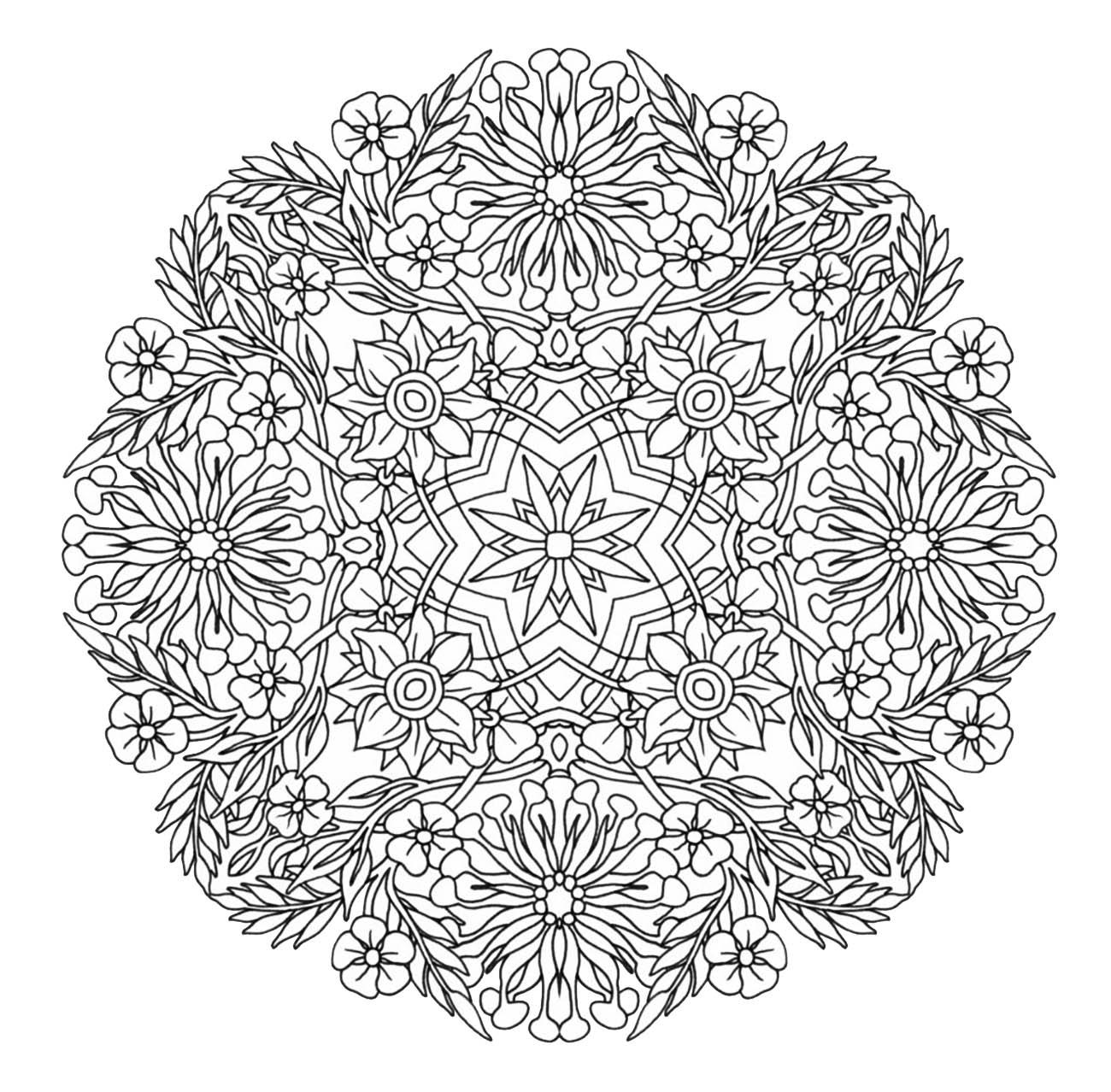 Disegni da colorare per adulti : Mandalas - 135
