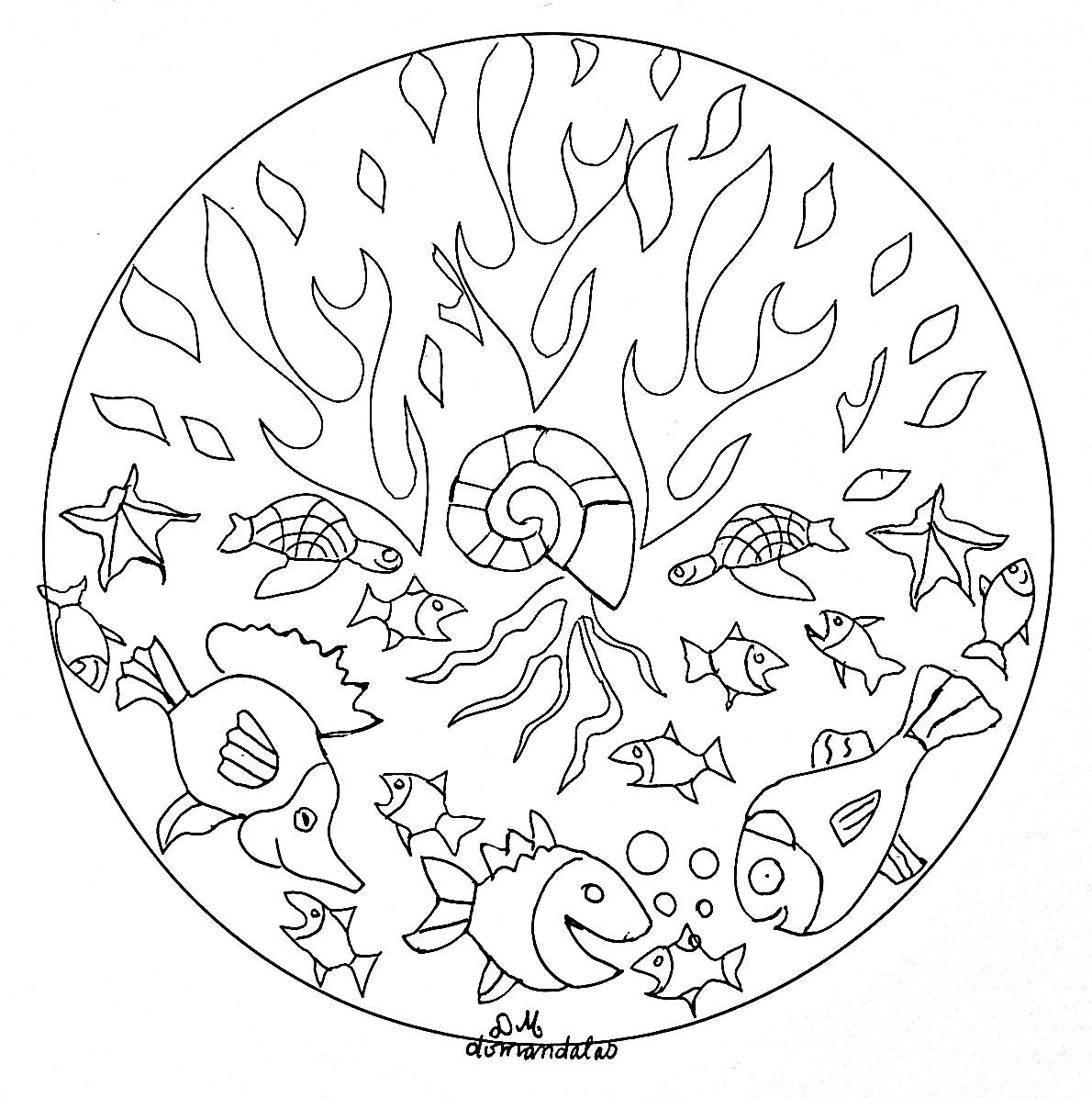 Disegni da colorare per adulti : Mandalas - 192