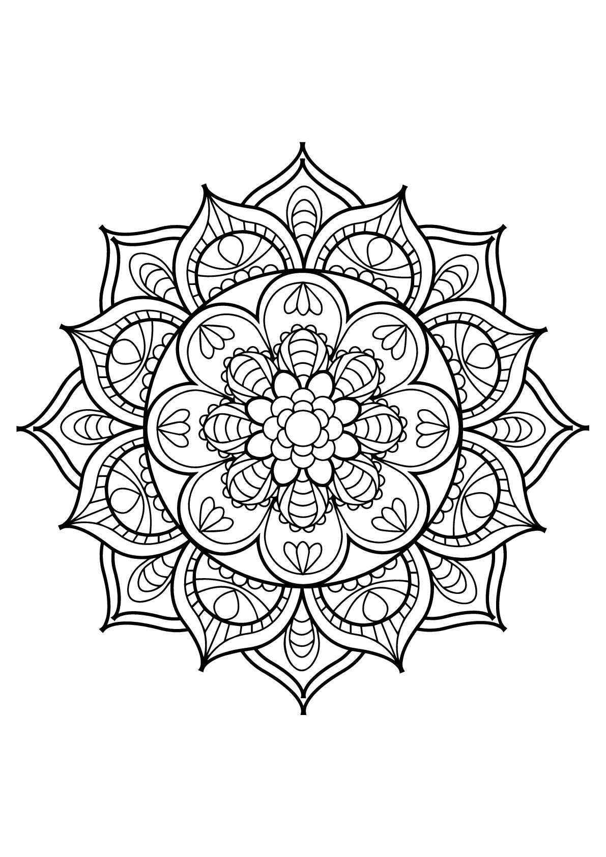 Disegni da colorare per adulti : Mandalas - 11