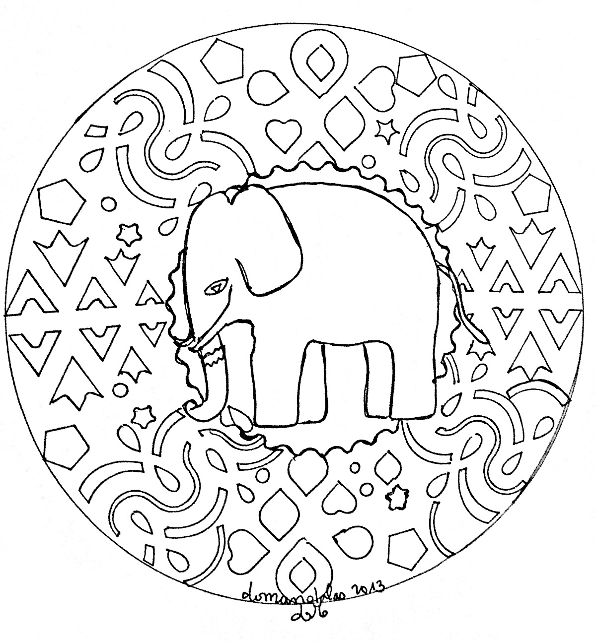 Disegni da colorare per adulti : Mandalas - 178