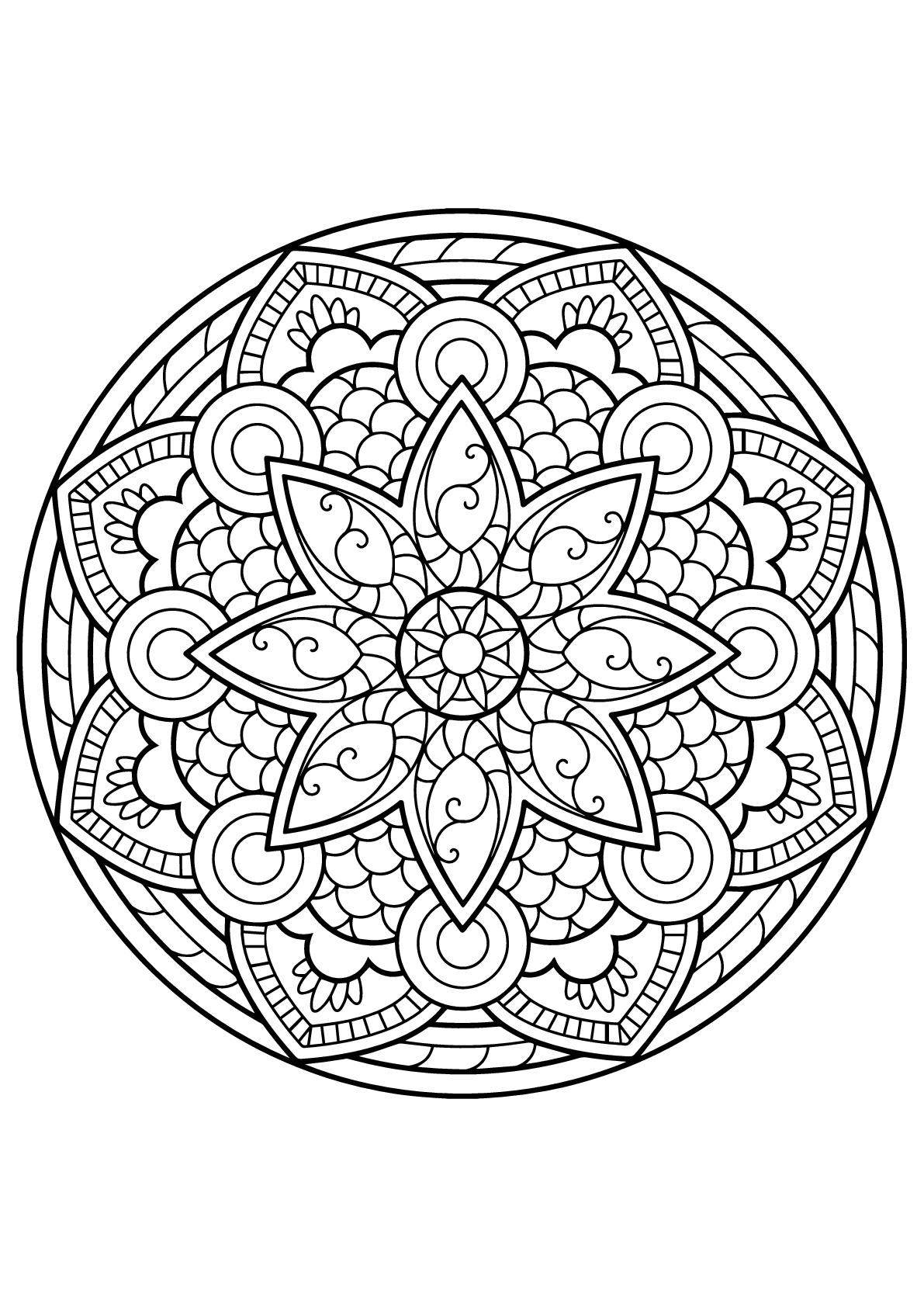 Disegni da colorare per adulti : Mandalas - 4