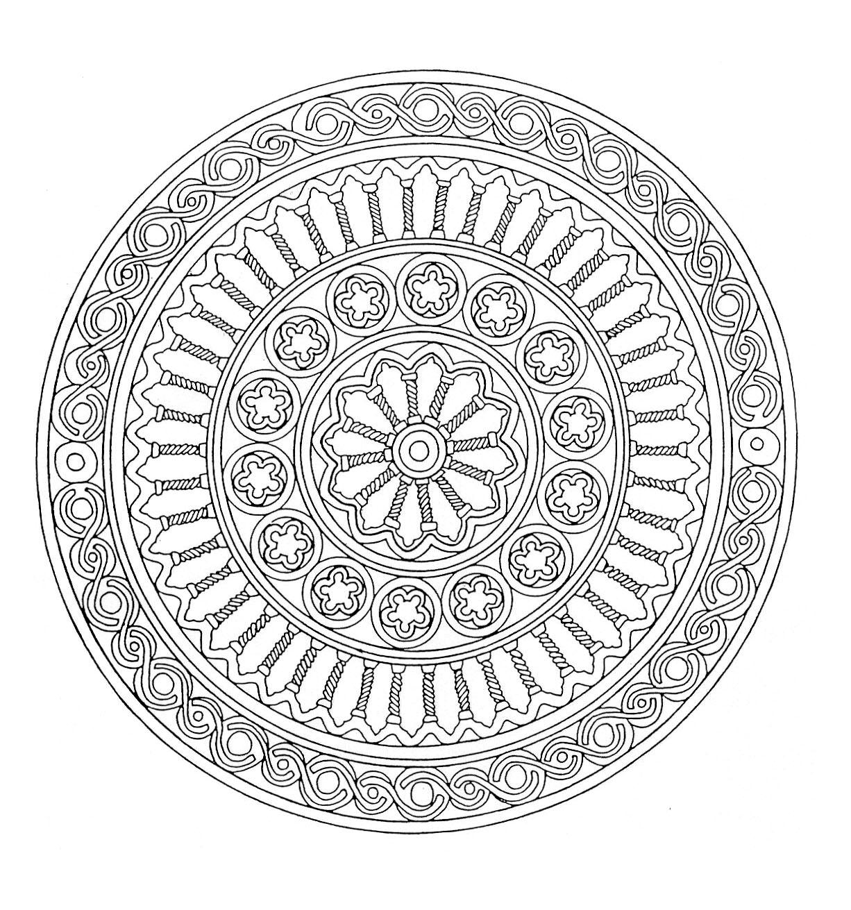 Disegni da colorare per adulti : Mandalas - 13